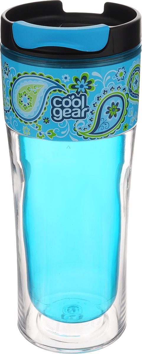 Кружка дорожная Cool Gear Razor, для горячих напитков, цвет: голубой, черный, 420 мл. 12831283_голубойДорожная кружка Cool Gear Razor изготовлена из высококачественного BPA- free пластика, не содержащего токсичных веществ. Двойные стенки дольше сохраняют напиток горячим и не обжигают руки. Надежная закручивающаяся крышка с защитой от проливания обеспечит дополнительную безопасность. Крышка оснащена клапаном для питья. Оптимальный объем позволит взять с собой большую порцию горячего кофе или чая. Идеально подходит для холодных напитков. Оригинальный дизайн, яркие, жизнерадостные цвета и эргономичная форма превращают кружку в стильный и функциональный аксессуар. Кружка идеальна для ежедневного использования. Она станет вашим неотъемлемым спутником в длительных поездках или занятиях зимними видами спорта. Не рекомендуется использовать в микроволновой печи и мыть в посудомоечной машине. Диаметр кружки по верхнему краю: 8 см. Высота кружки (с учетом крышки): 20,5 см.