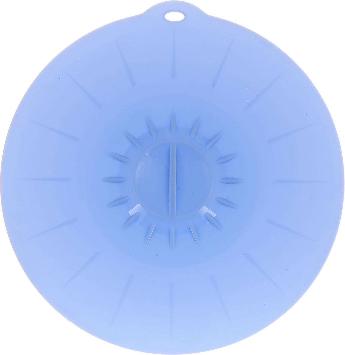 Крышка вакуумная Идея, силиконовая, цвет: голубой. Диаметр 26 смKRY-26_голубойВакуумная крышка Идея, выполненная из пищевого силикона, предназначена для герметичного закрытия любой посуды. Крышка плотно прилегает к краям емкости, ограничивая доступ воздуха внутрь, благодаря этому ваши продукты останутся свежими гораздо дольше. Основные свойства: - выдерживает температуру от -40°С до +240°С, - невозможно разбить, - легко моется, - не деформируется при хранении в свернутом виде, - имеет долгий срок службы, сохраняя свой первоначальный вид, - не выделяет вредных веществ при нагревании или охлаждении, - не впитывает запахи, - не вступает в химическую реакцию с продуктами, - безопасна при использовании в микроволновой печи, в духовке и морозильной камере. Такая крышка станет незаменимым помощником на вашей кухне.