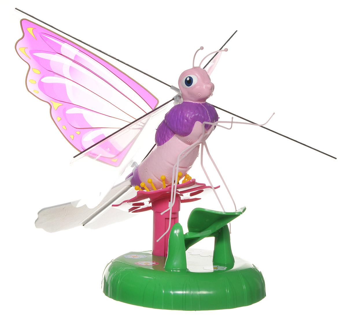 Splash Toys Интерактивная игрушка Летающая бабочка Kaly30850_розовый, зеленыйИнтерактивная игрушка Splash Toys Летающая бабочка Kaly станет отличным подарком каждой девочке. Игрушка выполнена из безопасных для здоровья ребенка материалов. Использовать игрушку можно только в помещении. Посадите бабочку на цветок и нажмите на нее, чтобы заставить взлететь. Она полетит по кругу, постепенно поднимаясь, и когда она начнет снижаться, поднесите под нее руку - бабочка отреагирует на руку и снова взлетит. Красочная бабочка летает по окружности на высоте 2 метров. Необходимо купить 4 батарейки напряжением 1,5V типа АА (не входят в комплект). Ваш ребенок будет в восторге от такого замечательного подарка!