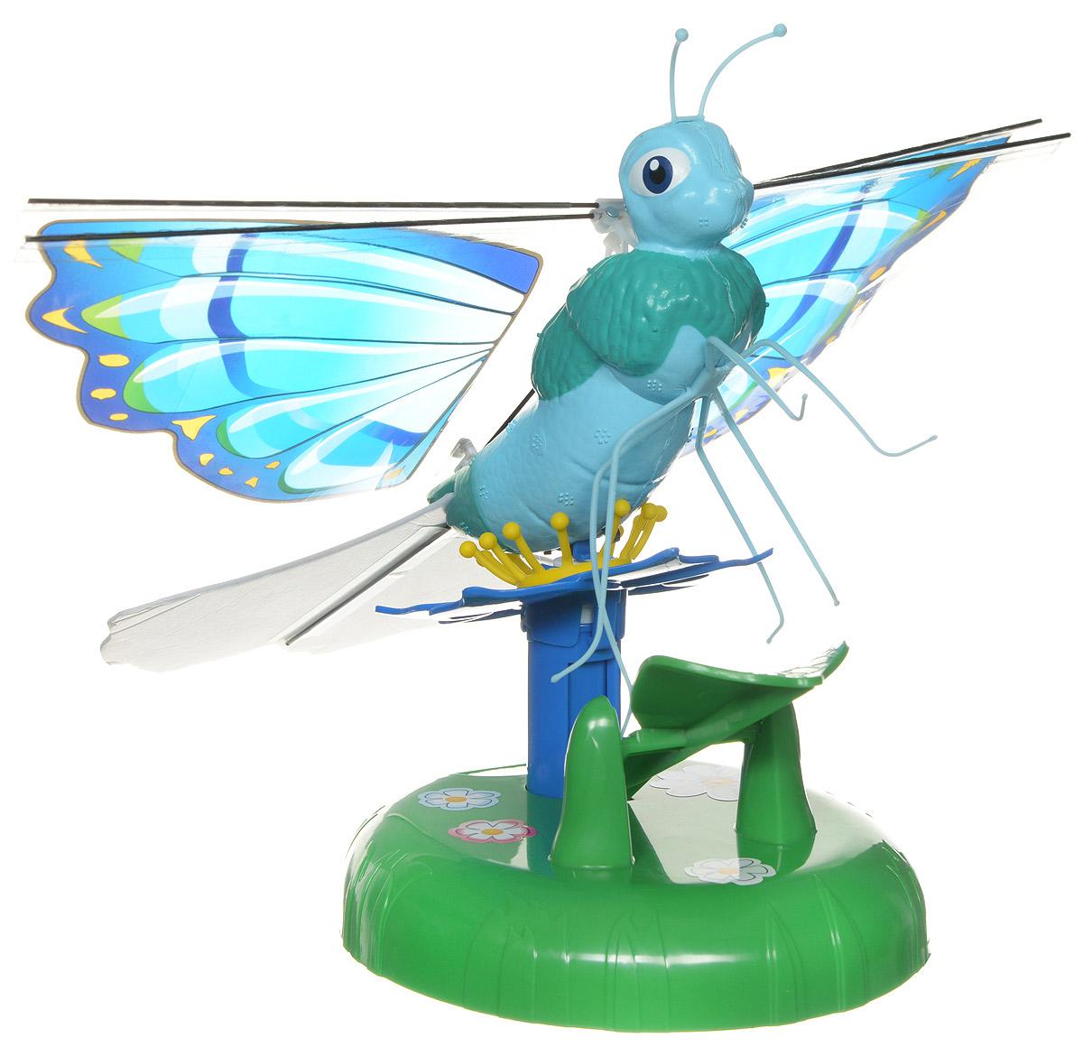 Splash Toys Интерактивная игрушка Летающая бабочка Zinnia30850_голубойИнтерактивная игрушка Splash Toys Летающая бабочка Zinnia станет отличным подарком каждой девочке. Игрушка выполнена из безопасных для здоровья ребенка материалов. Использовать игрушку можно только в помещении. Посадите бабочку на цветок и нажмите на нее, чтобы заставить взлететь. Она полетит по кругу, постепенно поднимаясь, и когда она начнет снижаться, поднесите под нее руку - бабочка отреагирует на руку и снова взлетит. Красочная бабочка летает по окружности на высоте 2 метров. Необходимо купить 4 батарейки напряжением 1,5V типа АА (не входят в комплект). Ваш ребенок будет в восторге от такого замечательного подарка!