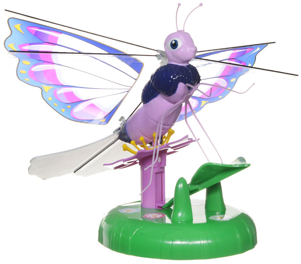 Splash Toys Интерактивная игрушка Летающая бабочка Lila30850_розовый, сиреневыйИнтерактивная игрушка Splash Toys Летающая бабочка Lila приведет в восторг всех девочек! Посадите бабочку на цветок и нажмите на нее, чтобы заставить взлететь. Она полетит по кругу, постепенно поднимаясь, а когда она начнет снижаться, поднесите под нее руку - бабочка отреагирует на руку и снова взлетит. Красочная бабочка летает по окружности на высоте 2 метров. Выполнена из качественных и безопасных материалов. Порадуйте свою дочурку таким замечательным подарком! Необходимо купить 4 батарейки типа АА (не входят в комплект).