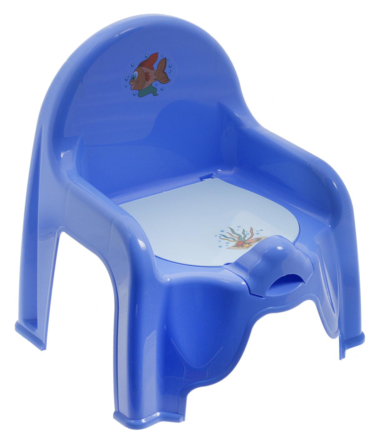 Idea (М-пластика) Idea Горшок-стульчик детский с крышкой цвет сиреневый М 2596_сиреневый