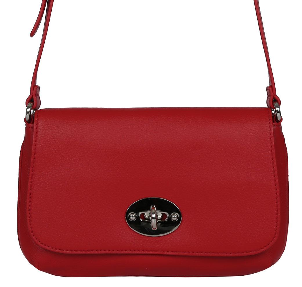 Сумка женская Palio, цвет: красный. 14346A-W1-335/33514346A-W1-335/335 redЖенская сумка PALIO выполнена из натуральной кожи и имеет откидной верх.Аксессуар закрывается на пластиковую молнию и на декоративный замок. Внутри:одно отделение, на боковых стенках расположен карман для мелочей и карман на молнии .Кожа средней плотности, форму держит. Размеры не вмещают формат А4. Фурнитура – серебро. Сумка носится на плече, длина наплечного ремня регулируется.