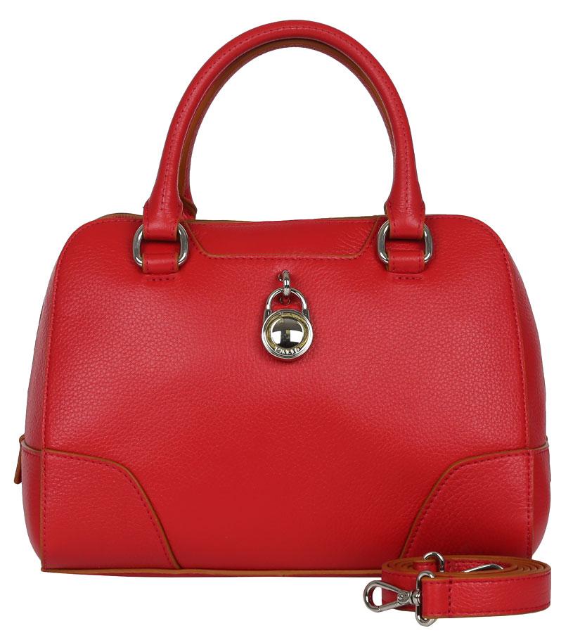 Сумка женская Palio, цвет: красный. 14387AS-33514387AS-335 redЖенская сумка Palio красного цвета из натуральной кожи. Внутри:одно отделение на боковых стенках расположены два открытых кармана для мобильного телефона и мелочей, 2 кармана на молнии.Сумка носится в руке и на плече, в комплектацию входит наплечный ремень.Закрывается на пластиковую молнию.Фурнитура - блестящее серебро. Кожа средней плотности, форма не изменяется . Размеры не вмещают формат А4.