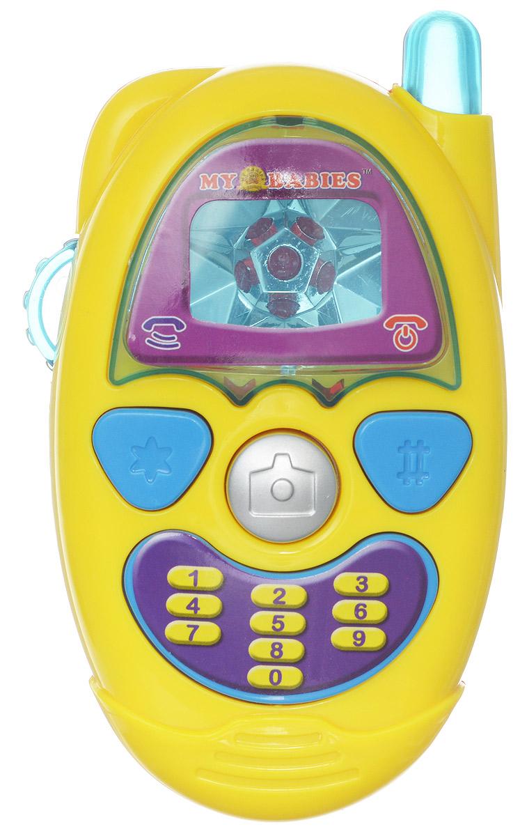 ABtoys Музыкальная игрушка Веселый телефон цвет желтыйPT-00244_желтыйМузыкальная игрушка ABtoys Веселый телефон понравится любому карапузу, который придет в полный восторг от звуковых и световых эффектов. Телефон удобен и практичен, ребенок сможет легко и просто нажимать на кнопки, а благодаря своей форме, он легко помещается в маленькой ладошке. Телефон оснащен регулировкой громкости и мигающей антенной. Игрушка выполнена из пластика, который не токсичен и не вызывает аллергии. Играя с таким телефоном, ребенок сможет развить цветовое и слуховое восприятие, мелкую моторику пальцев, координацию движения рук, а также воображение, мышление и речь. Необходимо купить 2 батарейки типа АG13 (не входят в комплект).