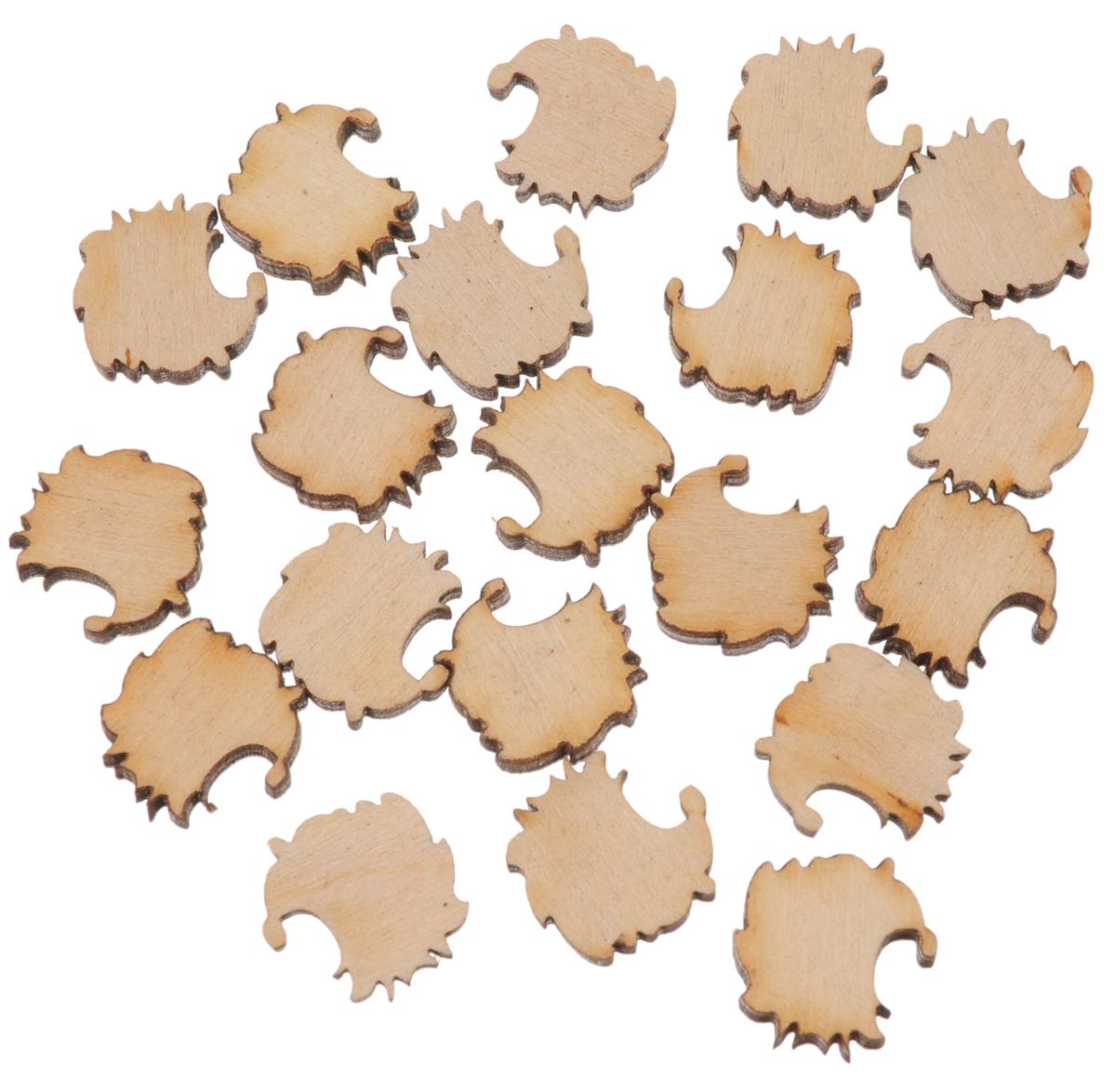 Деревянная заготовка Астра Ежик, 20 шт486659Набор из заготовок Астра Ежик изготовлен из дерева. Он станет хорошим объектом для вашего творчества. Такие заготовки можно раскрасить красками, использовать для декупажа и оформить любым способом, который вам подскажет фантазия. Размер заготовки: 15 х 15 мм.