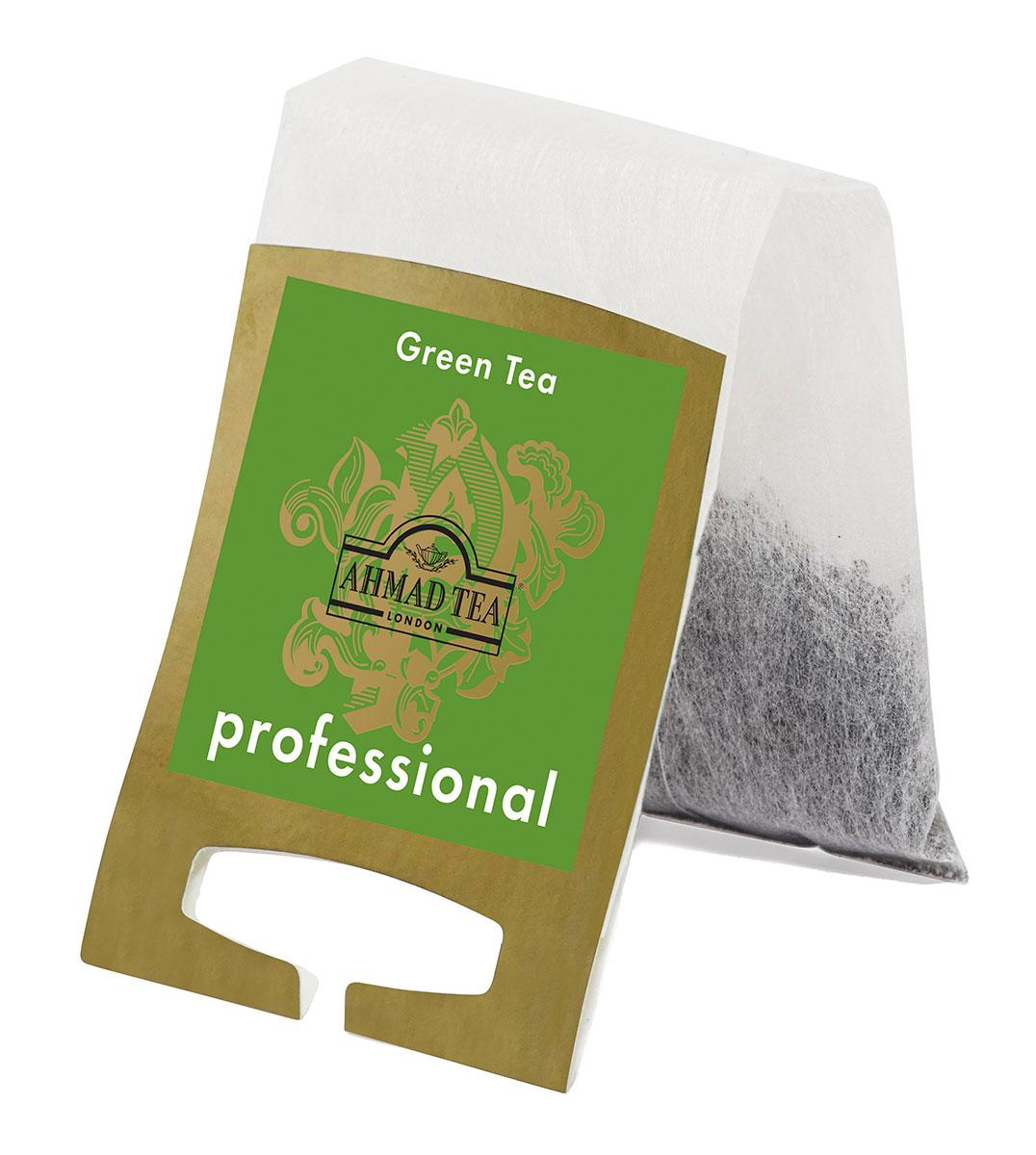 Ahmad Tea Professional Зеленый листовой чай в фильтр-пакетах для заваривания в чайнике, 20 шт