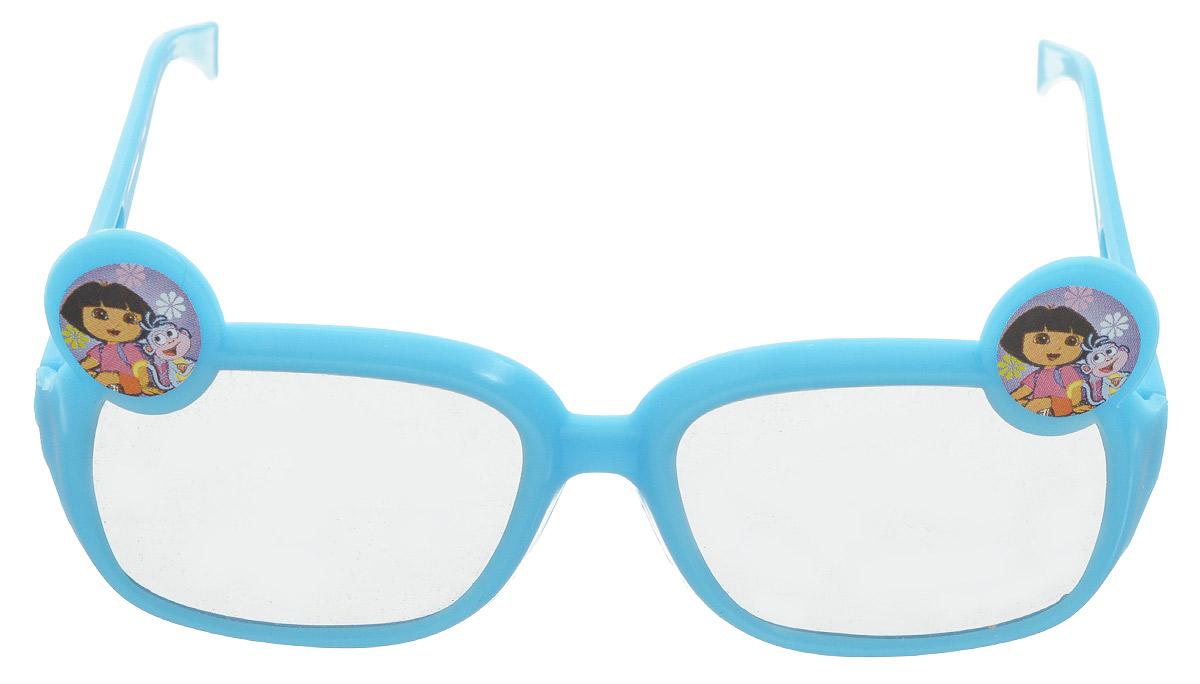 Веселая затея Очки солнцезащитные детские Даша-путешественница цвет голубой1501-2349_голубойОчки солнцезащитные детские Веселая затея Даша-путешественница будут незаменимы для ваших детей во время летних прогулок. Ультрамодный и полезный аксессуар для маленького модника. Их пластиковые линзы надежно защищают глаза от ультрафиолетовых лучей, особенно опасных для детских нежных хрусталиков. Удобные дужки комфортно прилегают к голове и почти не ощущаются.