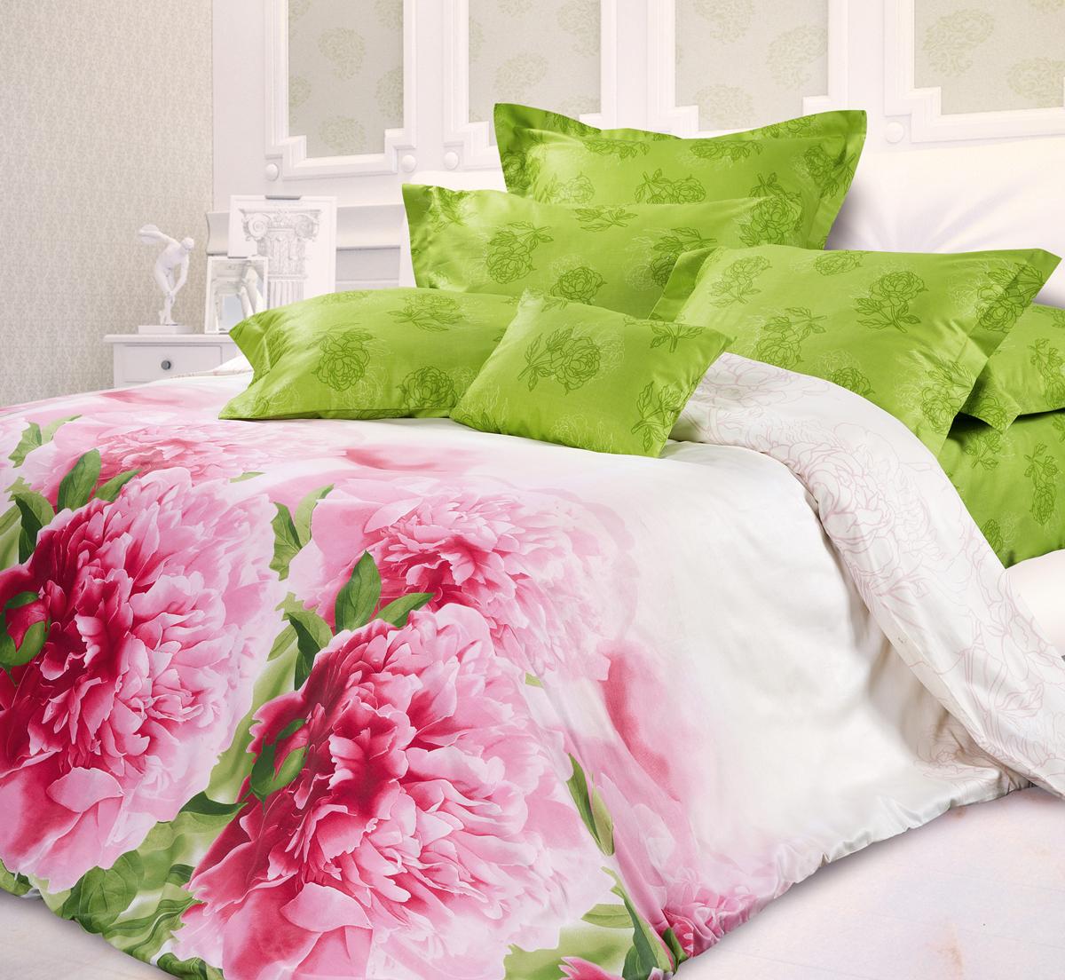Комплект белья Унисон Дивный сад, евро, наволочки 70 х 70, цвет: розовый. 329476329476Роскошная коллекция постельного белья из 100% хлопка высшего качества. Мягкий, износостойкий, нежный сатин с благородным шелковистым блеском производится из крученой хлопковой нити по специальной технологии двойного плетения.