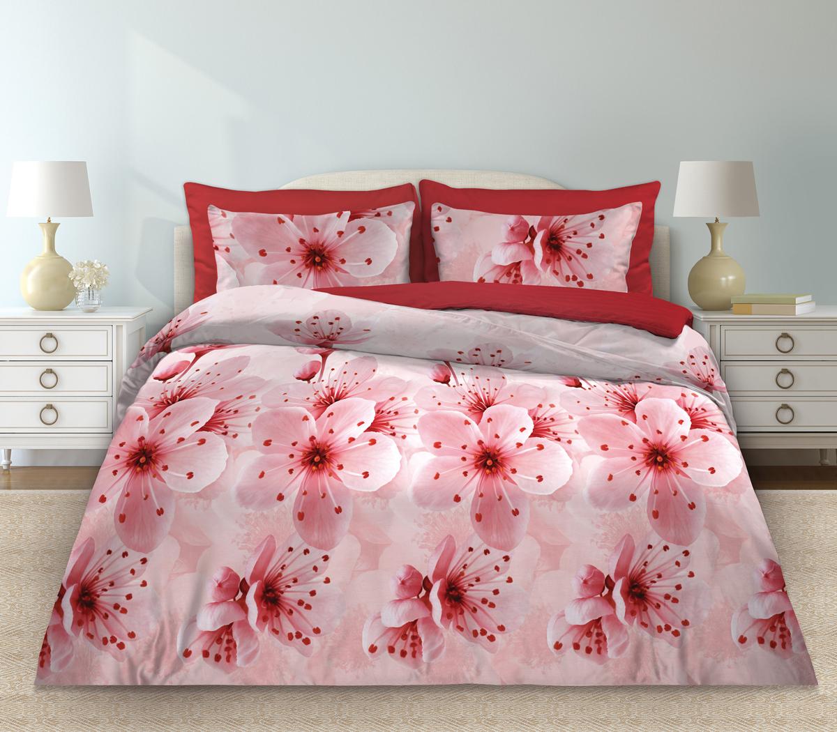 Комплект белья Любимый дом Мелодия, 2-х спальное, наволочки 70 х 70, цвет: розовый. 331116331116Комплект постельного белья коллекции «Любимый дом» - выполнен из высококачественной ткани из 100% хлопка. Такое белье абсолютно натуральное, гипоаллергенное, соответствует строжайшим экологическим нормам безопасности, комфортное, дышащее, не нарушает естественные процессы терморегуляции, прочное, не линяет, не деформируется и не теряет своих красок даже после многочисленных стирок, а также отличается хорошей износостойкостью.