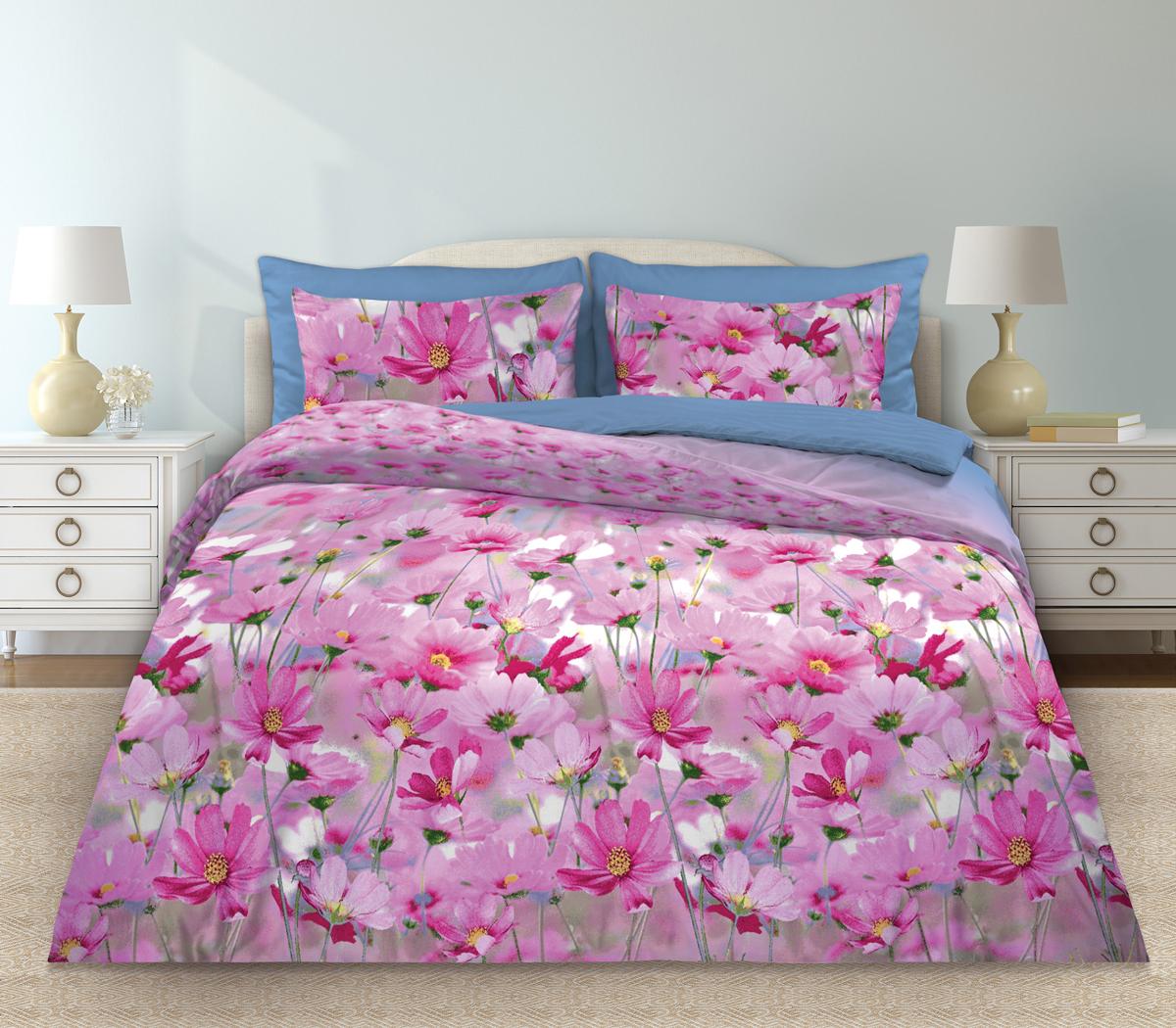 Комплект белья Любимый дом Скарлетт, 2-х спальное, наволочки 70 х 70, цвет: розовый. 331119331119Комплект постельного белья коллекции «Любимый дом» - выполнен из высококачественной ткани из 100% хлопка. Такое белье абсолютно натуральное, гипоаллергенное, соответствует строжайшим экологическим нормам безопасности, комфортное, дышащее, не нарушает естественные процессы терморегуляции, прочное, не линяет, не деформируется и не теряет своих красок даже после многочисленных стирок, а также отличается хорошей износостойкостью.
