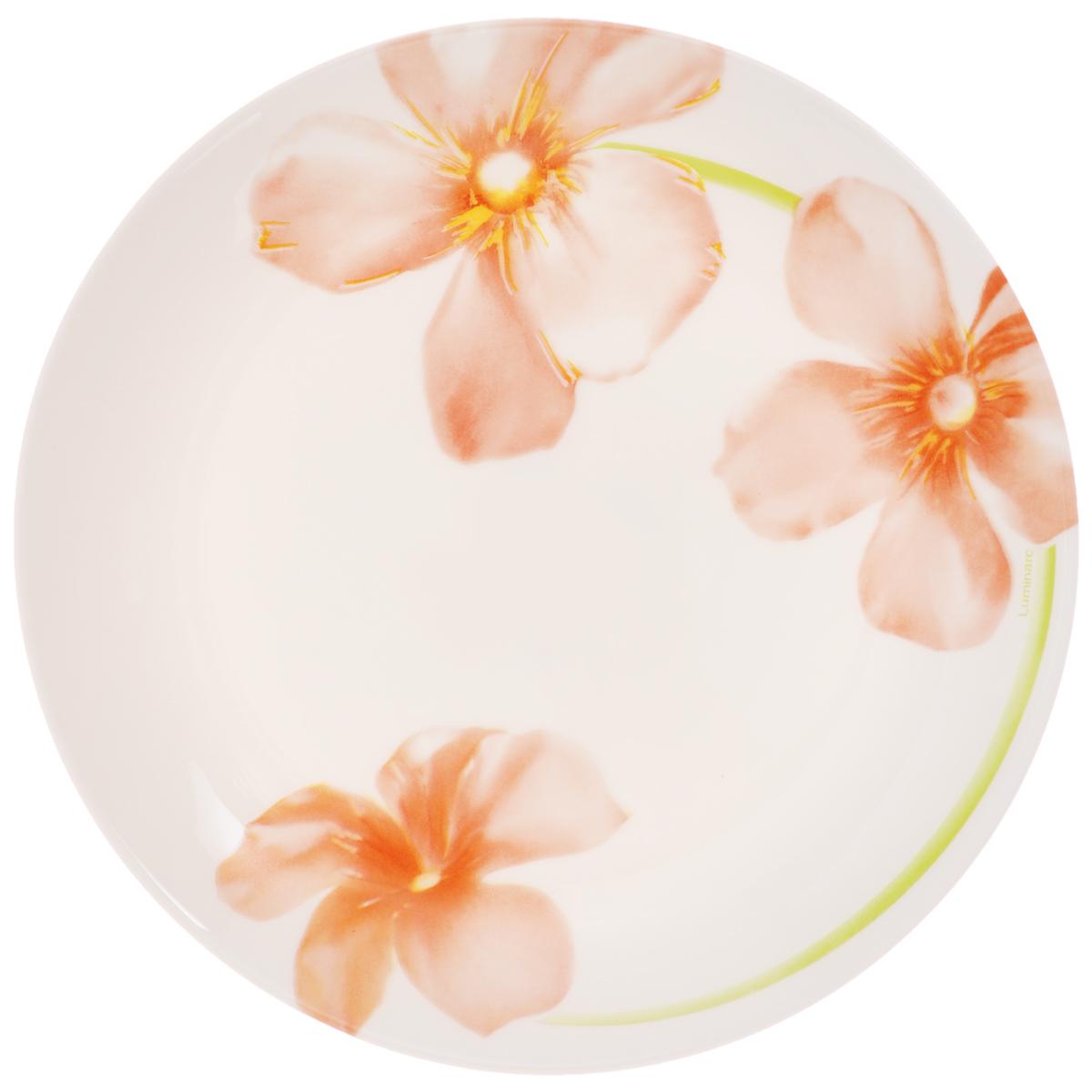 Тарелка десертная Luminarc Sweet Impression, диаметр 19 смJ1333Десертная тарелка Luminarc Sweet Impression, изготовленная из ударопрочного стекла, имеет изысканный внешний вид. Такая тарелка прекрасно подходит как для торжественных случаев, так и для повседневного использования. Идеальна для подачи десертов, пирожных, тортов и многого другого. Она прекрасно оформит стол и станет отличным дополнением к вашей коллекции кухонной посуды. Диаметр тарелки (по верхнему краю): 19 см.