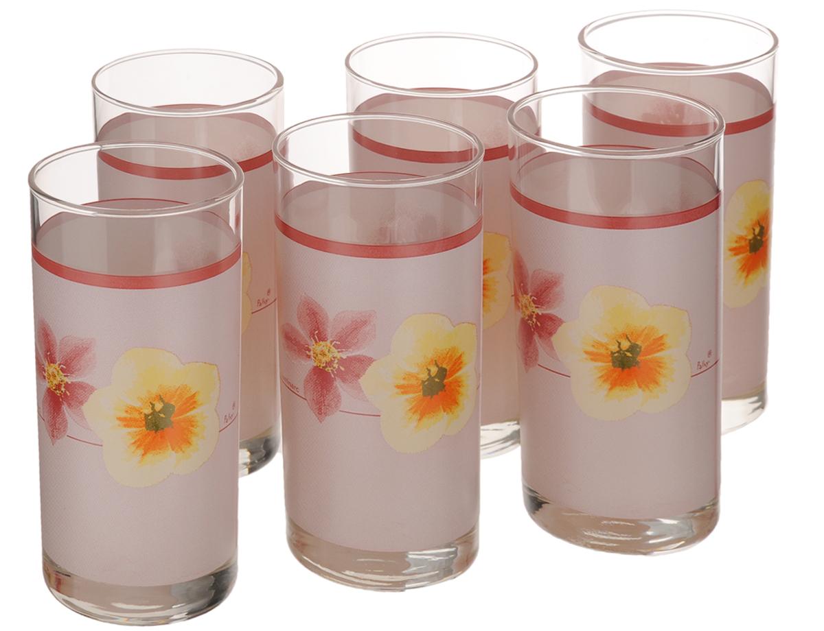 Набор стаканов Luminarc Poeme Rose, 270 мл, 6 штD2159Набор Luminarc Poeme Rose состоит из шести стаканов, выполненных из высококачественного стекла и оформленных ярким цветочным рисунком. Изделия предназначены для подачи воды и других безалкогольных напитков. Они отличаются особой легкостью и прочностью, излучают приятный блеск и издают мелодичный хрустальный звон. Стаканы станут идеальным украшением праздничного стола и отличным подарком к любому празднику. Можно мыть в посудомоечной машине. Диаметр стакана (по верхнему краю): 6 см. Высота: 13,5 см.