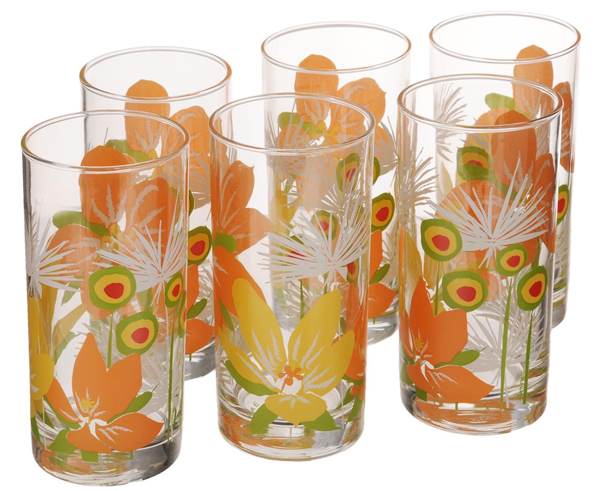 Набор стаканов Luminarc Pop Flowers Orange, 270 мл, 6 штD2278Набор Luminarc Pop Flowers Orange состоит из шести стаканов, выполненных из высококачественного стекла и оформленных ярким цветочным рисунком. Изделия предназначены для подачи воды и других безалкогольных напитков. Они отличаются особой легкостью и прочностью, излучают приятный блеск и издают мелодичный хрустальный звон. Стаканы станут идеальным украшением праздничного стола и отличным подарком к любому празднику. Можно мыть в посудомоечной машине. Диаметр стакана (по верхнему краю): 6 см. Высота: 13,5 см.
