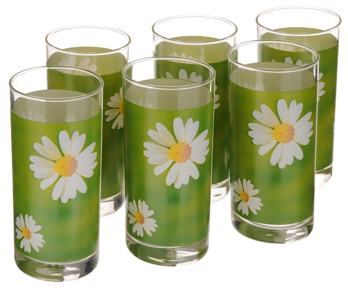 Набор стаканов Luminarc Paquerette Green, 270 мл, 6 штG1970Набор Luminarc Paquerette Green состоит из шести стаканов, выполненных из высококачественного стекла и оформленных ярким цветочным рисунком. Изделия предназначены для подачи воды и других безалкогольных напитков. Они отличаются особой легкостью и прочностью, излучают приятный блеск и издают мелодичный хрустальный звон. Стаканы станут идеальным украшением праздничного стола и отличным подарком к любому празднику. Можно мыть в посудомоечной машине. Диаметр стакана (по верхнему краю): 6 см. Высота: 13,5 см.
