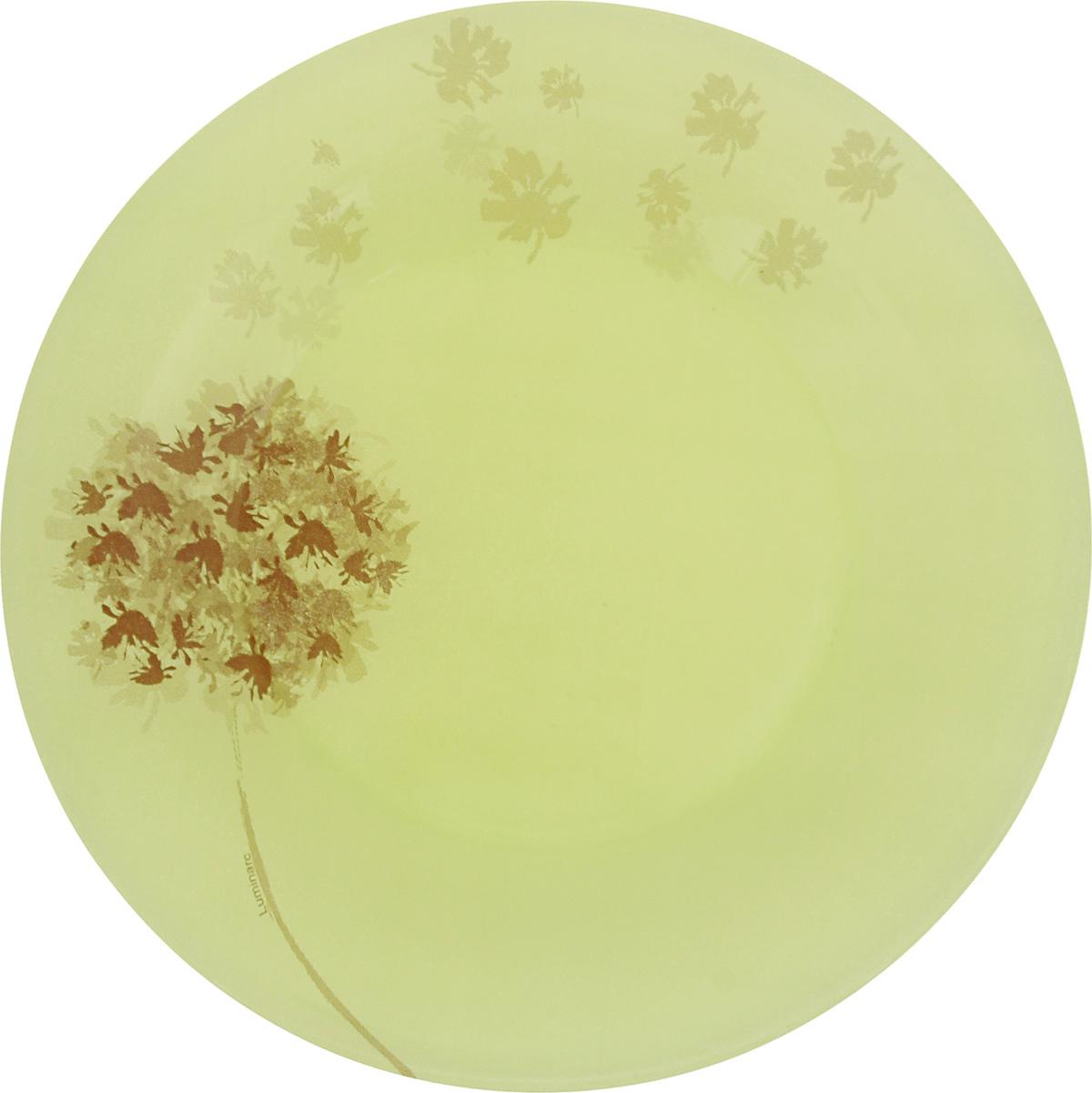 Тарелка десертная Luminarc Stella, цвет: зеленый, диаметр 19,5 смJ2139Десертная тарелка Luminarc Stella, изготовленная из ударопрочного стекла, декорирована ярким рисунком. Такая тарелка прекрасно подходит как для торжественных случаев, так и для повседневного использования. Идеальна для подачи десертов, пирожных, тортов и многого другого. Она прекрасно оформит стол и станет отличным дополнением к вашей коллекции кухонной посуды. Диаметр тарелки (по верхнему краю): 19,5 см.