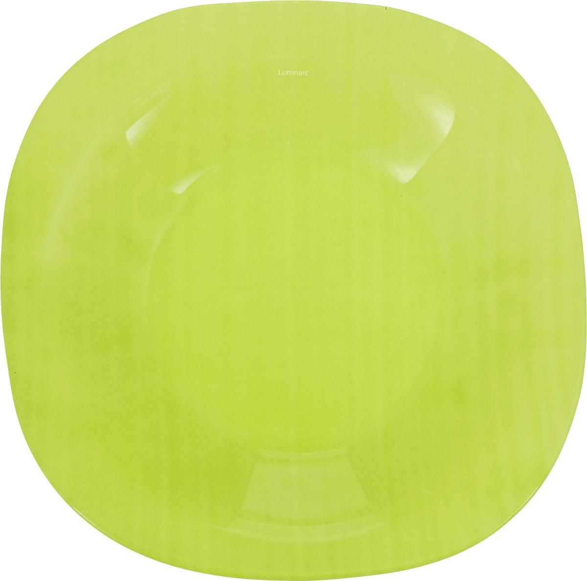 Тарелка глубокая Luminarc Colorama, цвет: зеленый, 20,5 х 20,5 смJ7764Глубокая тарелка Luminarc Colorama выполнена из ударопрочного стекла и оформлена в классическом стиле. Изделие сочетает в себе изысканный дизайн с максимальной функциональностью. Она прекрасно впишется в интерьер вашей кухни и станет достойным дополнением к кухонному инвентарю. Тарелка Luminarc Colorama подчеркнет прекрасный вкус хозяйки и станет отличным подарком. Размер (по верхнему краю): 20,5 х 20,5 см.