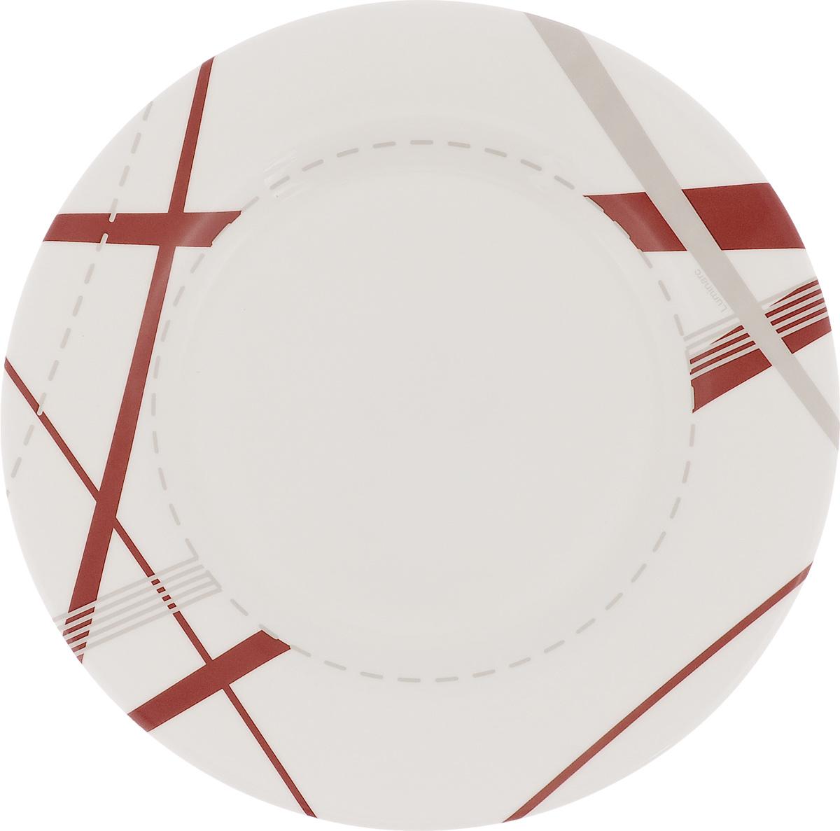 Тарелка десертная Luminarc Couture, диаметр 21 смJ2402Десертная тарелка Luminarc Couture, изготовленная из ударопрочного стекла, декорирована ярким рисунком. Такая тарелка прекрасно подходит как для торжественных случаев, так и для повседневного использования. Идеальна для подачи десертов, пирожных, тортов и многого другого. Она прекрасно оформит стол и станет отличным дополнением к вашей коллекции кухонной посуды. Диаметр тарелки (по верхнему краю): 21 см.