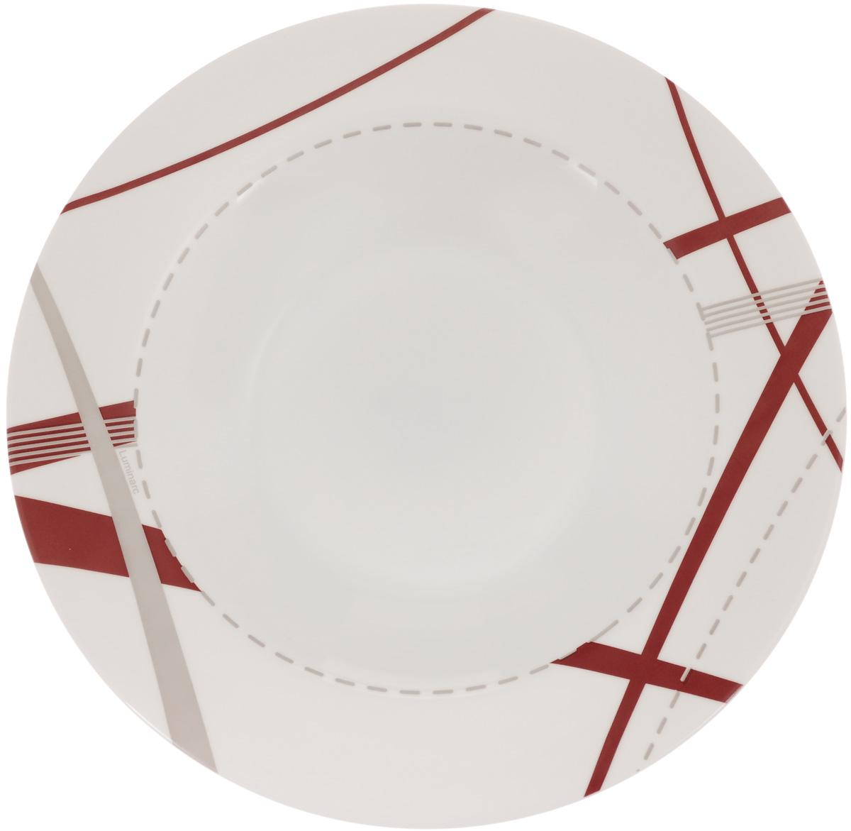 Тарелка глубокая Luminarc Couture, 23 х 23 смJ2397Глубокая тарелка Luminarc Couture выполнена из ударопрочного стекла и оформлена рисунком. Изделие сочетает в себе изысканный дизайн с максимальной функциональностью. Она прекрасно впишется в интерьер вашей кухни и станет достойным дополнением к кухонному инвентарю. Тарелка Luminarc Couture подчеркнет прекрасный вкус хозяйки и станет отличным подарком. Размер (по верхнему краю): 23 х 23 см.