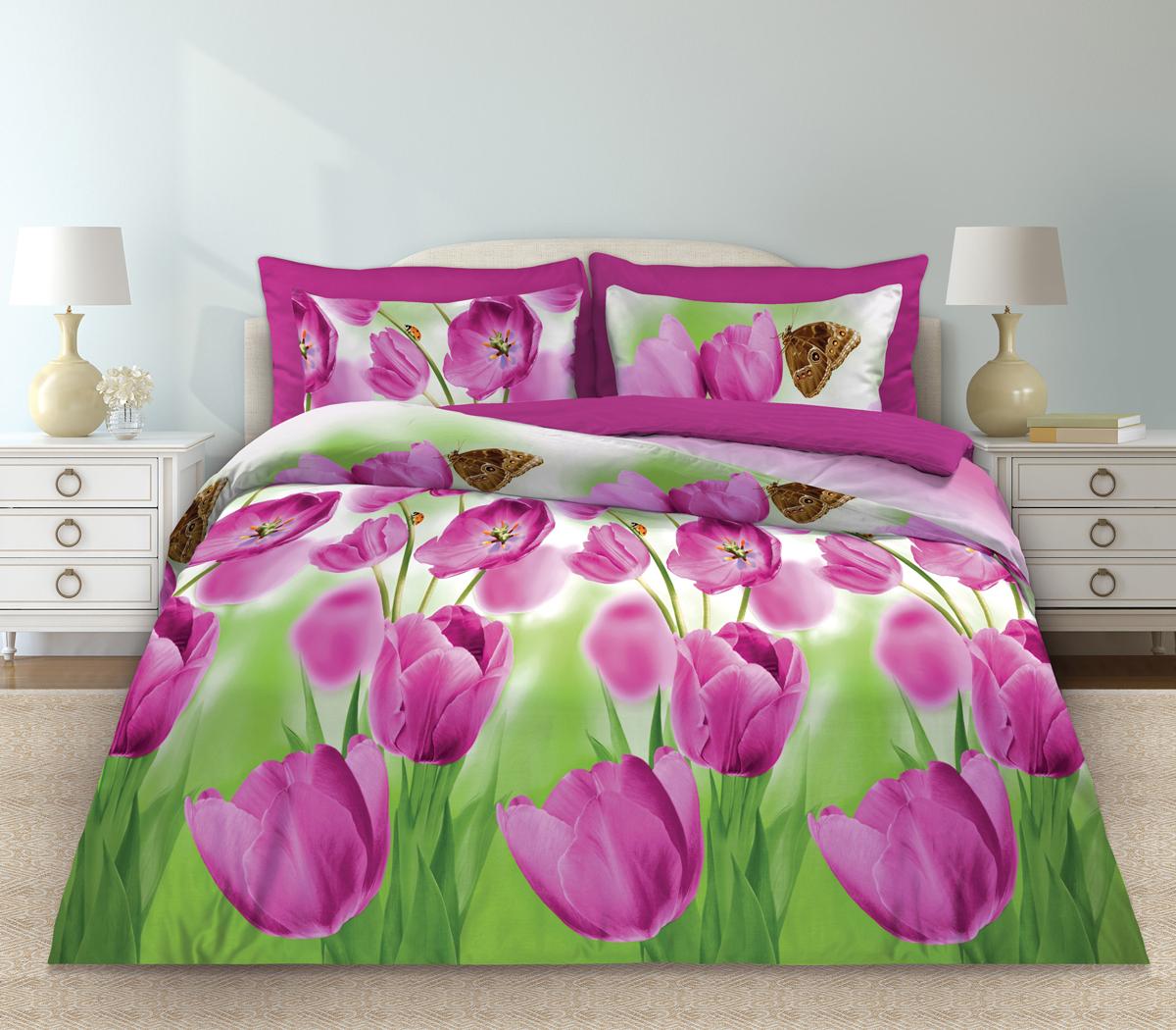Комплект белья Любимый дом Май, 2-х спальное, наволочки 70 х 70, цвет: розовый. 331128331128Комплект постельного белья коллекции «Любимый дом» - выполнен из высококачественной ткани из 100% хлопка. Такое белье абсолютно натуральное, гипоаллергенное, соответствует строжайшим экологическим нормам безопасности, комфортное, дышащее, не нарушает естественные процессы терморегуляции, прочное, не линяет, не деформируется и не теряет своих красок даже после многочисленных стирок, а также отличается хорошей износостойкостью.