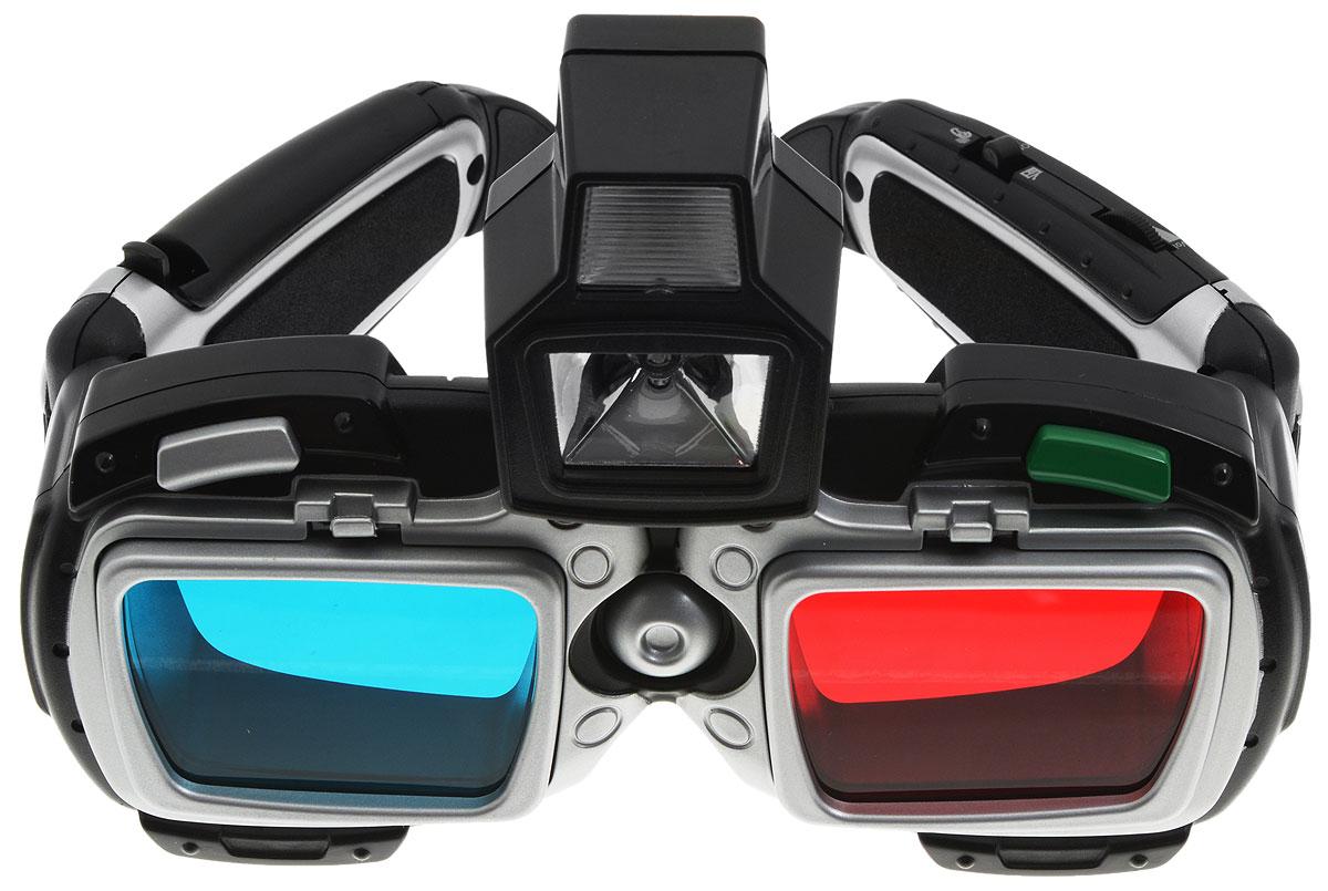 ABtoys Кибер очки 3D с подслушивающим устройством и радио9313Кибер очки 3D с подслушивающим устройством и радио ABtoys - это настоящий шпионский гаджет! Очки оснащены белой и зеленой светодиодной подсветкой, сменными линзами для просмотра 3D-изображений, высокотехнологичным подслушивающим устройством, улавливающим звуки на расстоянии до 9 метров, а также встроенным радиоприемником с цифровым управлением. В комплект входит: очки, 2 зеленые линзы, одна синяя и одна красная линзы, наушник и 2 анаглифные (3D) картинки, инструкция на русском языке. Сделайте своему маленькому суперагенту такой великолепный подарок! Для работы игрушки необходимы 3 батарейки типа AG13 (LR44) (не входят в комплект).
