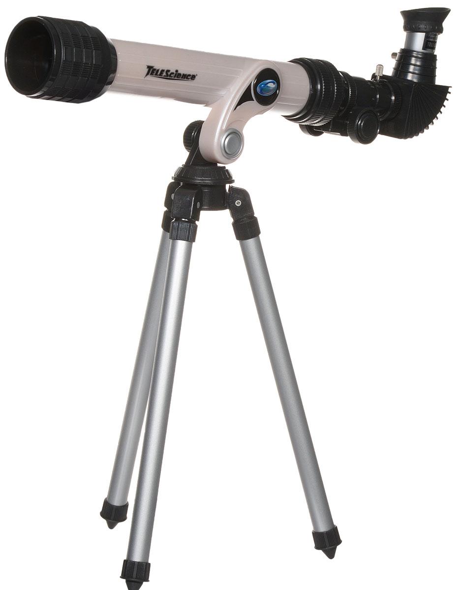 ABtoys Телескоп со штативом TeleScience цвет серый32001Телескоп со штативом ABtoys TeleScience - это замечательный подарок для юных любителей астрономии. Телескоп состоит из тубуса, светозащитной бленды объектива, линзы, крышки, крепления, ножки, держателя фокусной трубки, окуляров и крышки окуляров. Специальный окуляр позволяет наблюдать большую площадь объекта при одинаковом увеличении. Благодаря высокому качеству изображения и штативу, входящему в комплект, телескоп поможет ребенку совершить первые звездные прогулки и осознать, насколько велик окружающий мир. В комплекте: телескоп, штатив, диагональное зеркало, инструкция на русском языке. Максимальное увеличение: 100X. Фокусное расстояние: 400 мм. Окуляр: 20 мм - 4 мм. Диаметр объектива: 30 мм.