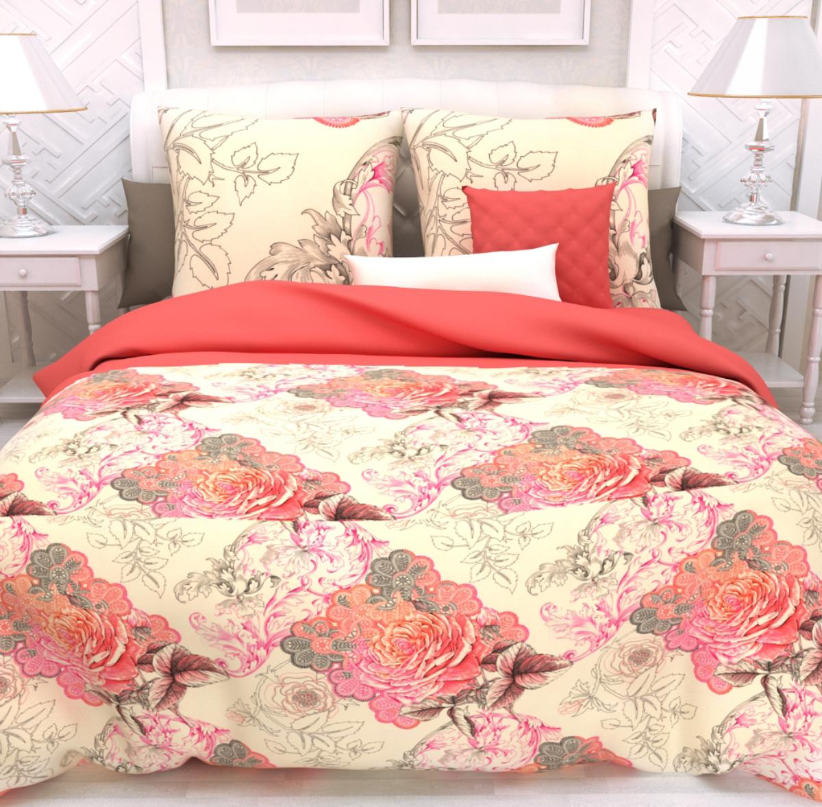 Комплект белья Унисон Рапсодия, евро, наволочки 50 х 70, цвет: розовый. 286306286306Постельное белье торговой марки «Унисон Биоматин» - это домашний текстиль премиум класса с эксклюзивными дизайнами в разнообразных стилистических решениях. Комплекты данной серии выполнены из ткани «биоматин» - это 100% хлопок высочайшего качества, мягкий, тонкий и легкий, но при этом прочный, долговечный и очень практичный, с повышенным показателем износостойкости, обладающий грязе- и пылеотталкивающими свойствами, долго сохраняющий чистоту и свежесть постельного белья, гипоаллергенный.