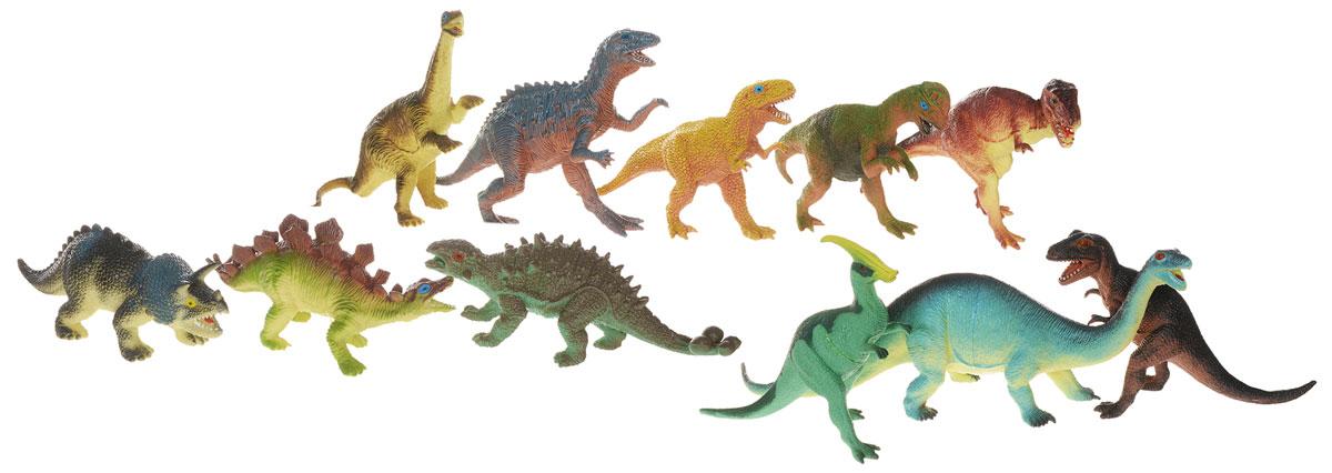 HGL Набор фигурок Динозавры 11 штSV10561В набор HGL входят 11 различных фигурок, с которыми можно разыграть разнообразные сюжеты, связанные с периодом динозавров. Фигурки динозавров являются копей доисторических ящеров, которые непременно впечатлят вашего ребенка своим правдоподобным видом. Фигурки динозавров изготовлены из высококачественных нетоксичных материалов, абсолютно безопасных для вашего малыша. Тема эпохи динозавров никогда не останется в прошлом! Каждый ребенок, так или иначе, интересовался этим доисторическим миром и мечтал о своем собственном динозавре. Удивительные фигурки динозавров HGL с высокой детализацией и тщательной проработкой элементов не оставят равнодушным ни одного ребенка. Ваш ребенок часами будет играть с такой игрушкой, придумывая различные истории.