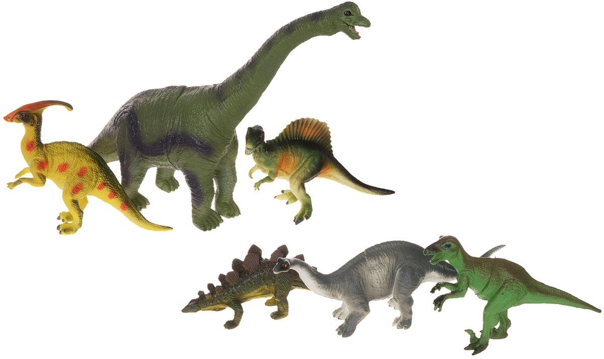 HGL Набор фигурок Динозавры с брахиозавром 6 штSV10557_с брахиозавромВ набор HGL входят 6 различных фигурок, с которыми можно разыграть разнообразные игровые сюжеты, связанные с периодом динозавров. Эти фигурки динозавров являются копей доисторических ящеров, которые непременно впечатлят вашего ребенка своим правдоподобным видом. Фигурки динозавров изготовлены из высококачественных нетоксичных материалов, абсолютно безопасных для вашего малыша. Тема эпохи динозавров никогда не останется в прошлом! Каждый ребенок, так или иначе, интересовался этим доисторическим миром и мечтал о своем собственном динозавре. Удивительные фигурки динозавров HGL с высокой детализацией и тщательной проработкой элементов не оставят равнодушным ни одного ребенка. Ваш ребенок часами будет играть с такой игрушкой, придумывая различные истории.