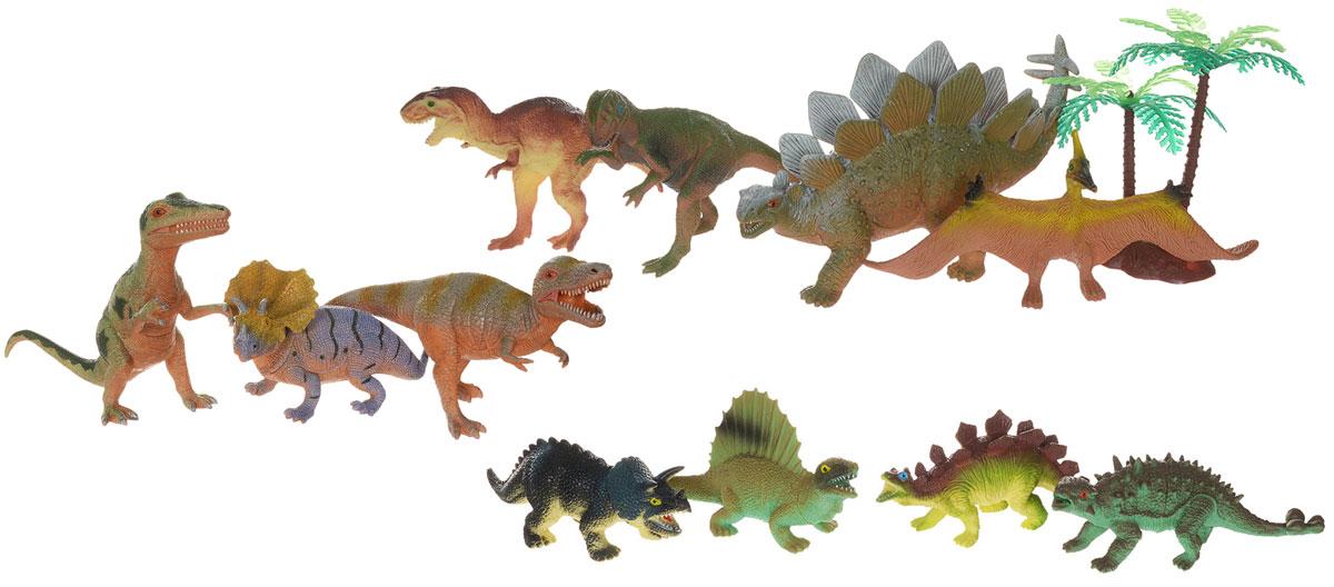 Megasaurs Набор фигурок Динозавры с деревом 11 штSV10804В набор HGL входят 11 различных фигурок, с которыми можно разыграть разнообразные игровые сюжеты, связанные с периодом динозавров. Фигурки динозавров являются копей доисторических ящеров, которые непременно впечатлят вашего ребенка своим правдоподобным видом. Фигурки динозавров изготовлены из высококачественных нетоксичных материалов, абсолютно безопасных для вашего малыша. Тема эпохи динозавров никогда не останется в прошлом! Каждый ребенок, так или иначе, интересовался этим доисторическим миром и мечтал о своем собственном динозавре. Удивительные фигурки динозавров HGL с высокой детализацией и тщательной проработкой элементов не оставят равнодушным ни одного ребенка. Ваш ребенок часами будет играть с такой игрушкой, придумывая различные истории.