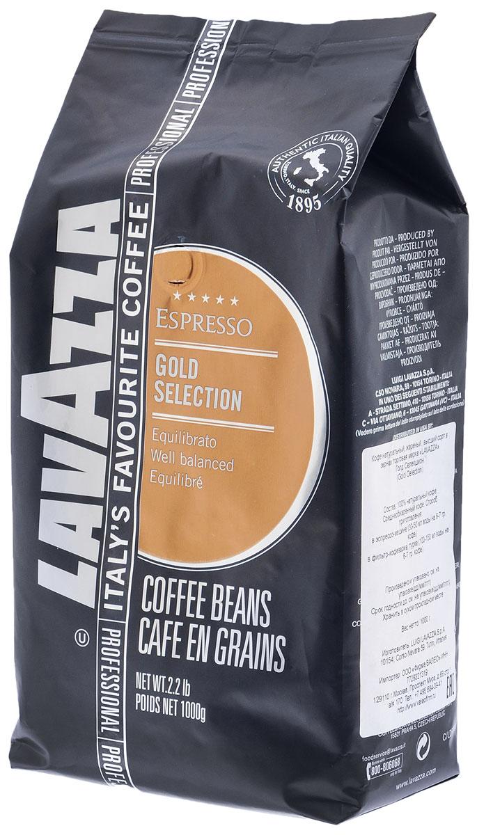 Lavazza Gold Selection кофе в зернах, 1 кг8000070043206Хорошо сбалансированная смесь арабики и робусты в кофе Lavazza Gold Selection идеально подходит для употребления после десерта, подчеркивая его вкус и оставляя шоколадное послевкусие.