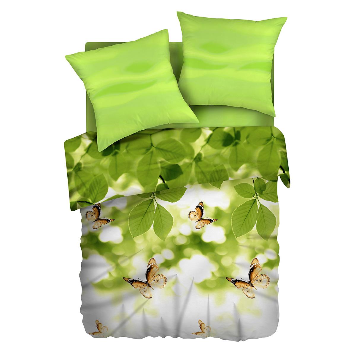 Комплект белья Романтика Бабочка желаний, 1,5-спальный, наволочки 70х70292802Бязевое постельное белье состоит из 100% хлопка самого простого полотняного переплетения из достаточно толстых, но мягких нитей. Стоит постельное белье из этой ткани не намного дороже поликоттона или полиэфира, но приятней на ощупь и лучше пропускают воздух. Благодаря современным технологиям окраски, простыни не теряют свой цвет даже после множества стирок. По своим свойствам бязь уступает сатину, что окупается низкой стоимостью и неприхотливостью в уходе. Атмосфера любви и гармонии в вашем доме – это Романтика.