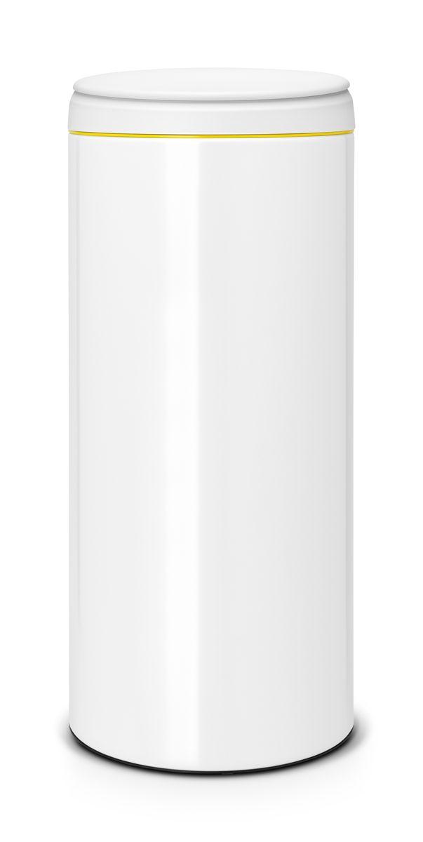 Бак мусорный Brabantia FlipBin, цвет: белый, 30 л106866Бак Brabantia FlipBin имеет не только превосходную лицевую сторону, но и удивительную изнанку. Создан, чтобы удивлять и радовать: одно движение пальцем и крышка сама поднимается вверх, а внутри еще один сюрприз - внутреннее ведро теперь имеет цвет! Ну и последний штрих - цветной ободок снаружи для свежих эффектных мазков в палитру вашего интерьера! Особенности: Прост в обращении - открывается одним кончиком пальца; При открывании крышка не задевает стену; Удобная очистка - съемное пластиковое ведро с ручками; Всегда опрятный вид - идеально подходящие по размеру мешки для мусора с завязками (размер G); Защитный нижний обод.