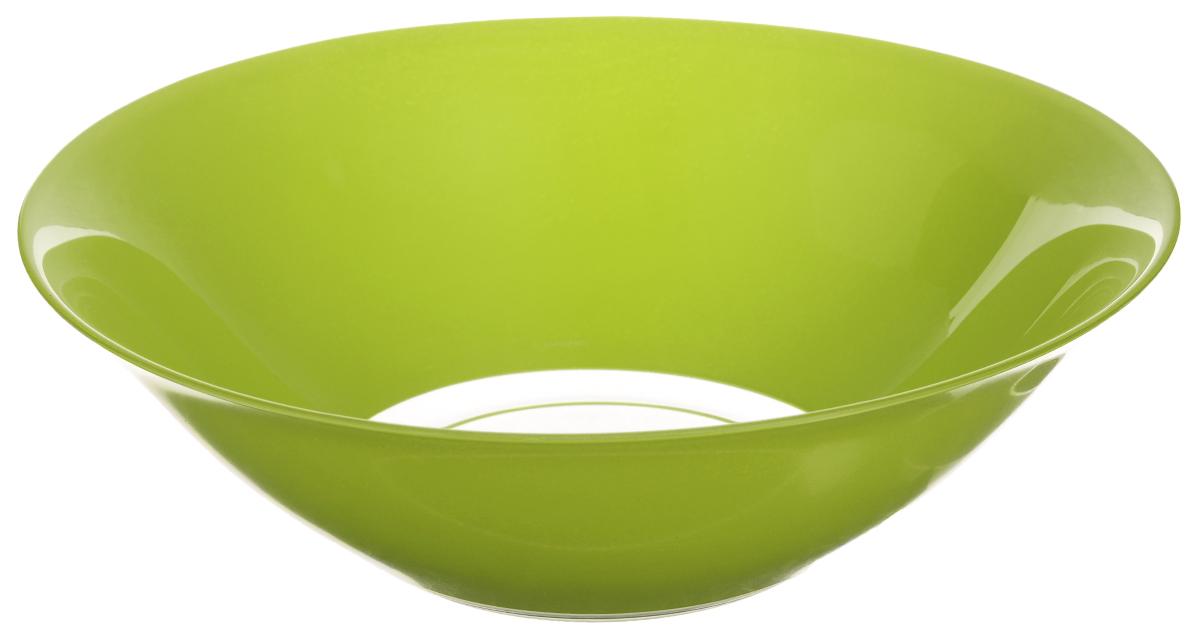Салатник Luminarc Fizz Mint, диаметр 26,7 смG9522Салатник Luminarc Fizz Mint, изготовленная из ударопрочного стекла, имеет изысканный внешний вид. Такой салатник прекрасно подходит как для торжественных случаев, так и для повседневного использования. Изделие прекрасно оформит стол и станет отличным дополнением к вашей коллекции кухонной посуды. Диаметр тарелки (по верхнему краю): 26,7 см.