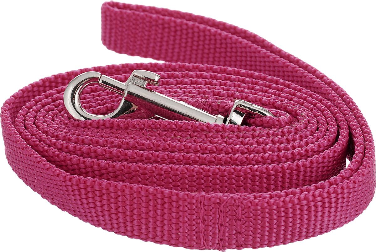 Поводок капроновый для собак Аркон, цвет: розовый, ширина 1,5 см, длина 1,5 мпк1,5м15_розовыйПоводок для собак Аркон изготовлен из высококачественного цветного капрона и снабжен металлическим карабином. Изделие отличается не только исключительной надежностью и удобством, но и привлекательным современным дизайном. Поводок - необходимый аксессуар для собаки. Ведь в опасных ситуациях именно он способен спасти жизнь вашему любимому питомцу. Иногда нужно ограничивать свободу своего четвероногого друга, чтобы защитить его или себя от неприятностей на прогулке. Длина поводка: 1,5 м. Ширина поводка: 1,5 см.
