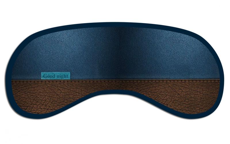 Маска для сна арт.40670/250 (8,5*19,5см, из полиэстера с поролоновым наполнителем и двойной эластичной резинкой (полиэстер, поролон) / 8,5*19,5 арт.40670