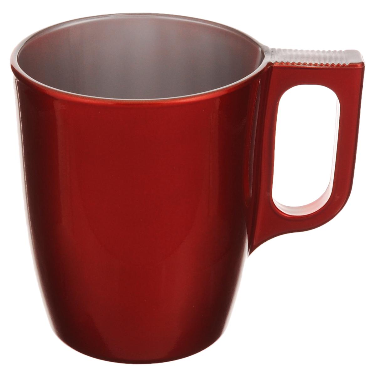 Кружка Luminarc Flashy Colors, цвет: красный, 250 млJ1121Кружка Luminarc Flashy Colors, изготовленная из высококачественного стекла, оснащена эргономичной ручкой. Кружка прекрасно дополнит интерьер любой кухни. Яркий дизайн изделия придется по вкусу и ценителям классики, и тем, кто предпочитает утонченность и изысканность. Диаметр кружки (по верхнему краю): 7,5 см. Высота кружки: 9,2 см.