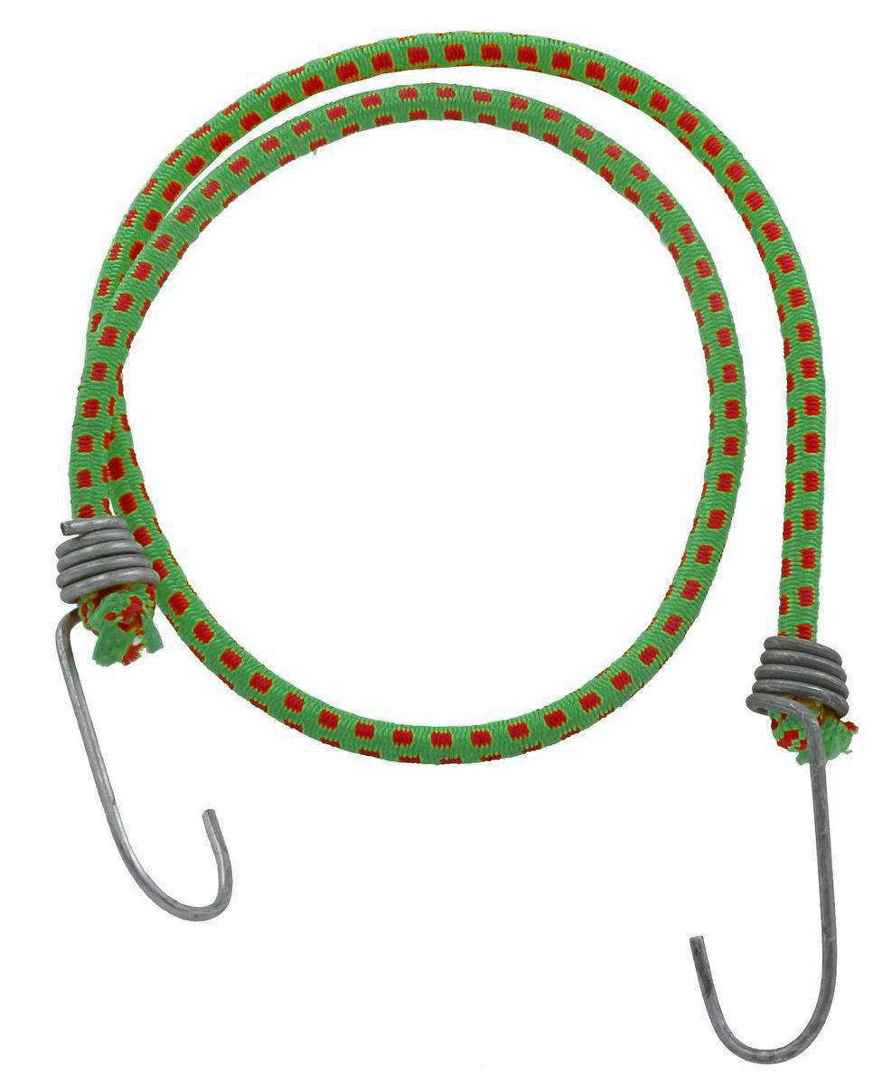 Резинка багажная МастерПроф, с крючками, цвет: зеленый, красный, 0,6 х 80 см. АС.020051АС.020051_зеленый, красныйБагажная резинка МастерПроф, выполненная из натурального каучука, оснащена специальными металлическими крюками, которые обеспечивают прочное крепление и не допускают смещения груза во время его перевозки. Изделие применяется для закрепления предметов к багажнику. Такая резинка позволит зафиксировать как небольшой груз, так и довольно габаритный. Температура использования: -50°C до +50°C. Безопасное удлинение: 125%. Диаметр резинки: 0,6 см. Длина резинки: 80 см.