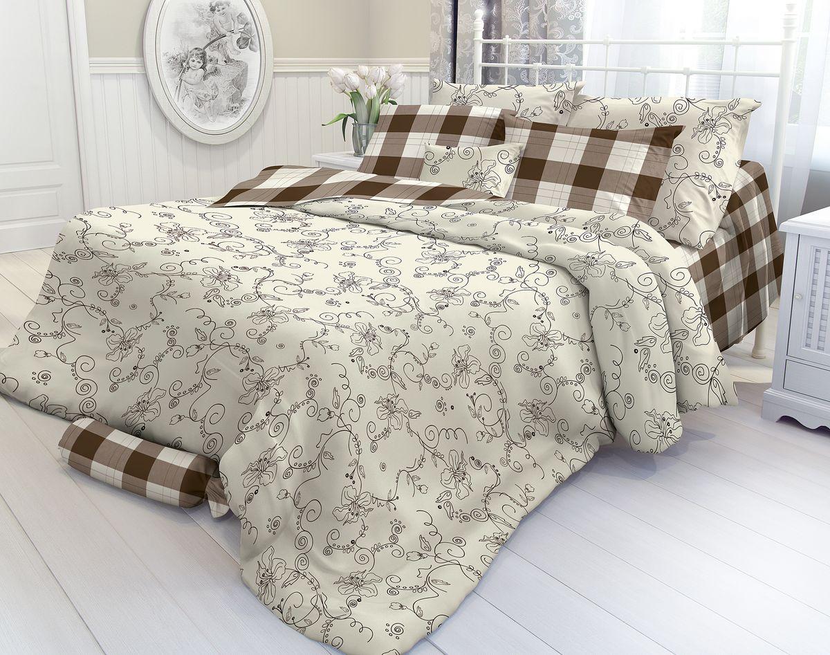 Комплект белья Verossa, 1,5-спальный, наволочки 50 х 70. 177707177707