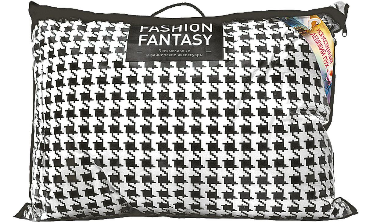 Подушка Fashion Fantasy, цвет: черный, белый, 50 х 70 см183383Подушка Fashion Fantasy изготовлена из лебяжьего пуха. Размер подушки: 50 х 70 см.