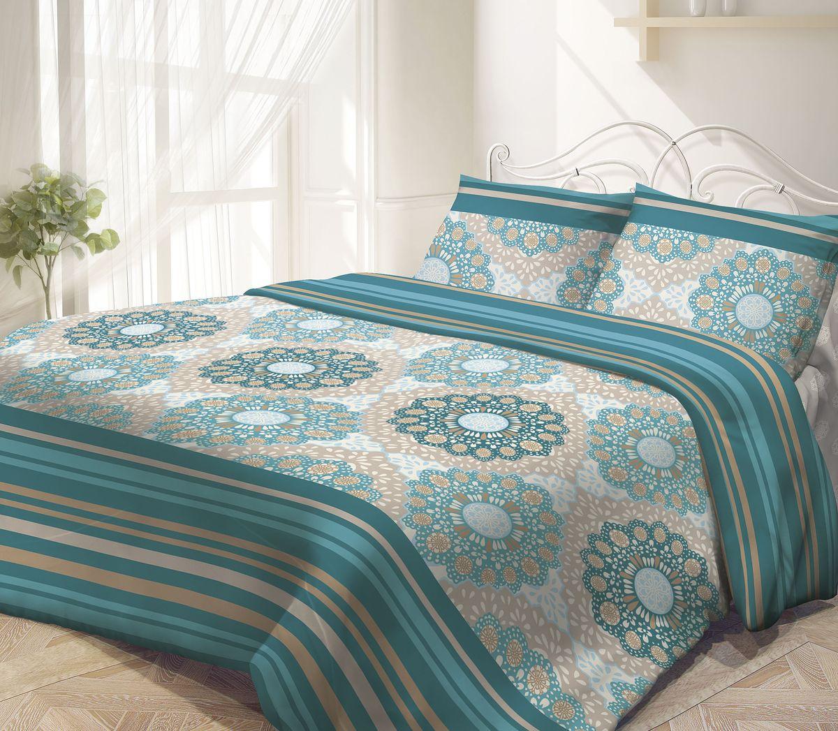Комплект белья Гармония Восток-Запад, 1,5-спальный, наволочки 50х70, цвет: зеленый, серый190817Комплект постельного белья Восток-Запад является экологически безопасным, так как выполнен из поплина (100% хлопка). Комплект состоит из пододеяльника, простыни и двух наволочек. Постельное белье оформлено красивым орнаментом и имеет изысканный внешний вид. Постельное белье Гармония - лучший выбор для современной хозяйки! Его отличают демократичная цена и отличное качество. Поплин мягкий и приятный на ощупь. Кроме того, эта ткань не требует особого ухода, легко стирается и прекрасно держит форму. Высококачественные красители, которые используются при производстве постельного белья, сохраняют свой цвет даже после многочисленных стирок.