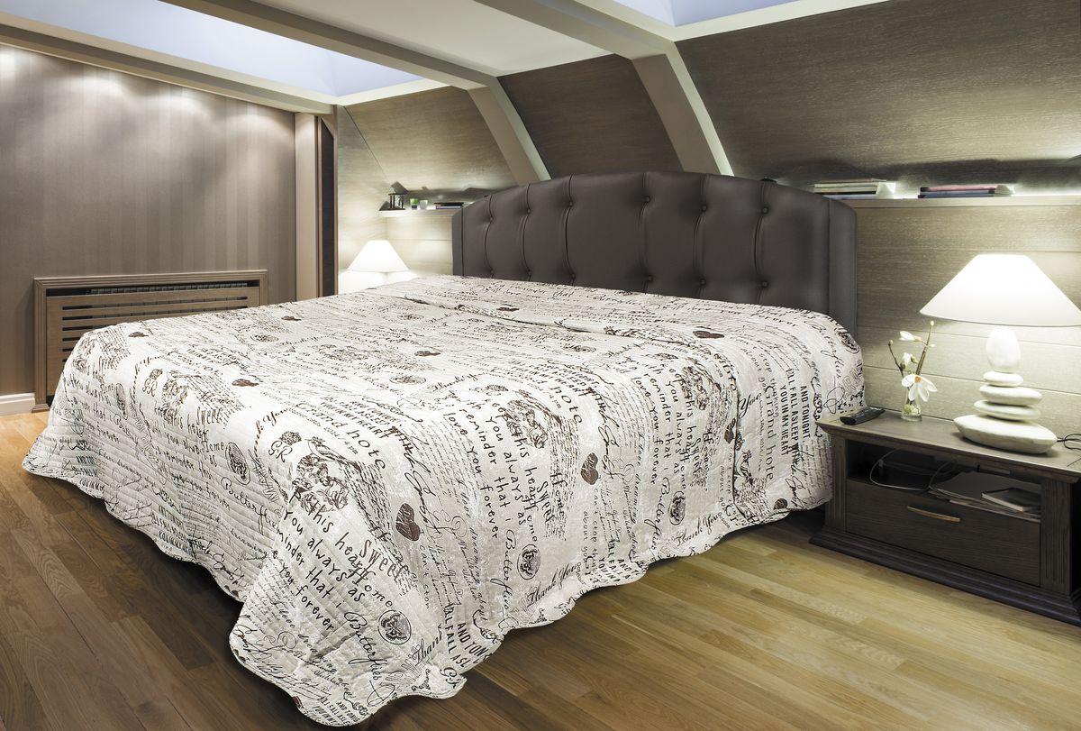 Покрывало Волшебная ночь, цвет: бежевый, 220х240 см.191258191258Стеганые покрывала для декора интерьера в различных стилевых решениях - сочетаются с постельным бельем Волшебная Ночь, формируя модный дизайн спальни. Сохраняет внешний вид после многочисленных стирок. Выполнены из натуральной ткани, содержащей 100% хлопок, не накапливают статического электричества, не собирает на себя пыль, можно использовать как тонкое одеяло