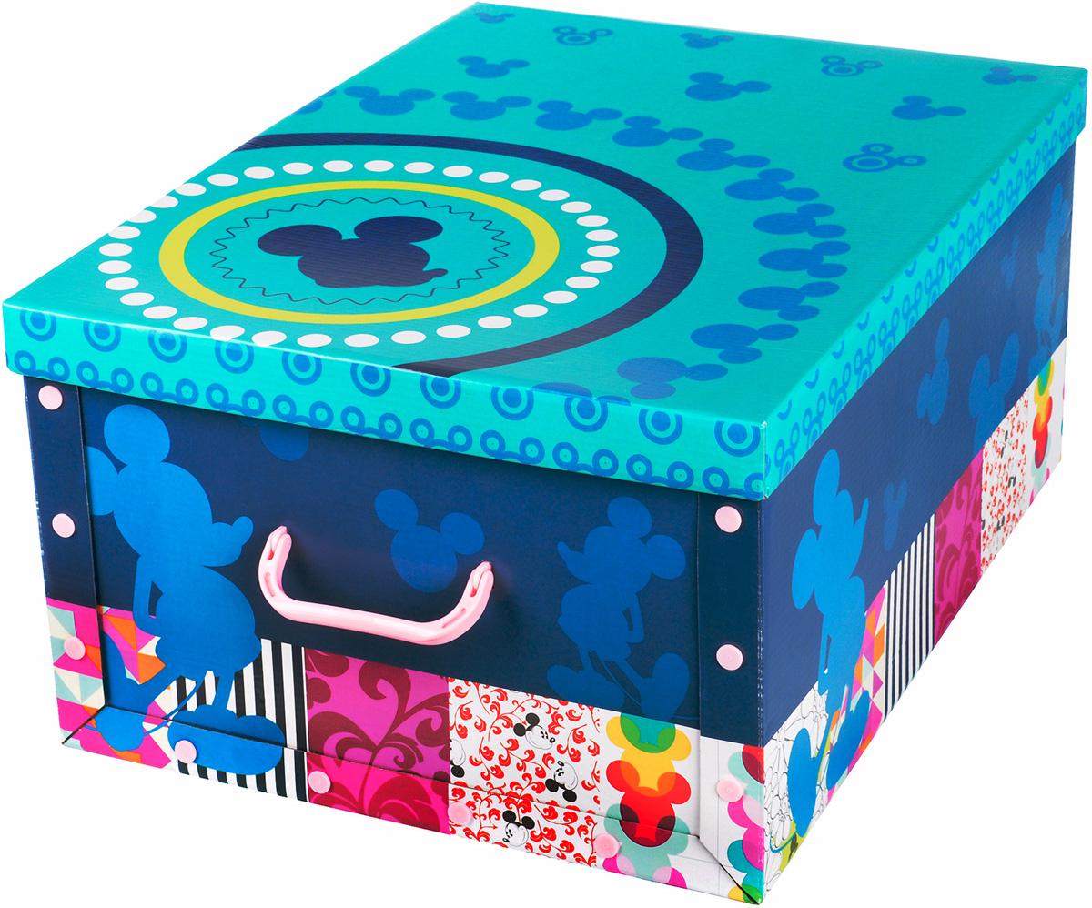 Коробка для хранения Disney Микки, 40 х 50 х 25 см64841Коробка для хранения Disney Микки, выполненная из высококачественного гофрированного картона, идеально подойдет для хранения игрушек, одежды, книг, канцелярских принадлежностей и других мелких предметов. Изделие легко собирается и не занимает много места. Коробка декорирована изображением Микки Мауса и оснащена удобными ручками для транспортировки. Коробка Disney Микки поможет хранить все в одном месте, а также защитить вещи от пыли, грязи и влаги. Размер коробки (в собранном виде): 40 х 50 х 25 см.