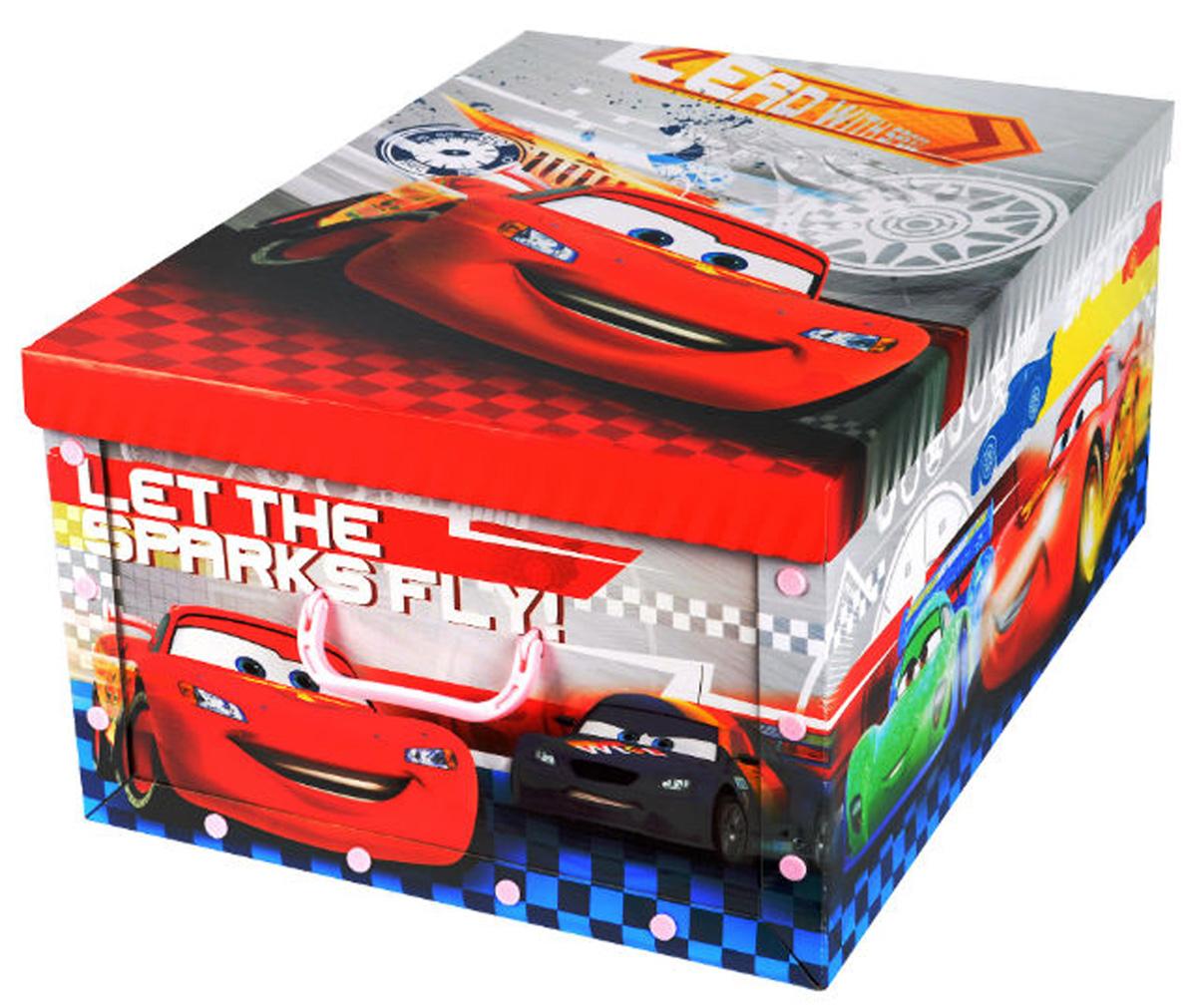 Коробка для хранения Disney Тачки, 40 х 50 х 25 см64843Коробка для хранения Disney Тачки, выполненная из высококачественного гофрированного картона, идеально подойдет для хранения игрушек, одежды, книг, канцелярских принадлежностей и других мелких предметов. Изделие легко собирается и не занимает много места. Коробка декорирована изображением героя мультфильма Тачки и оснащена удобными ручками для транспортировки. Коробка Disney Тачки поможет хранить все в одном месте, а также защитить вещи от пыли, грязи и влаги. Размер коробки (в собранном виде): 40 х 50 х 25 см.