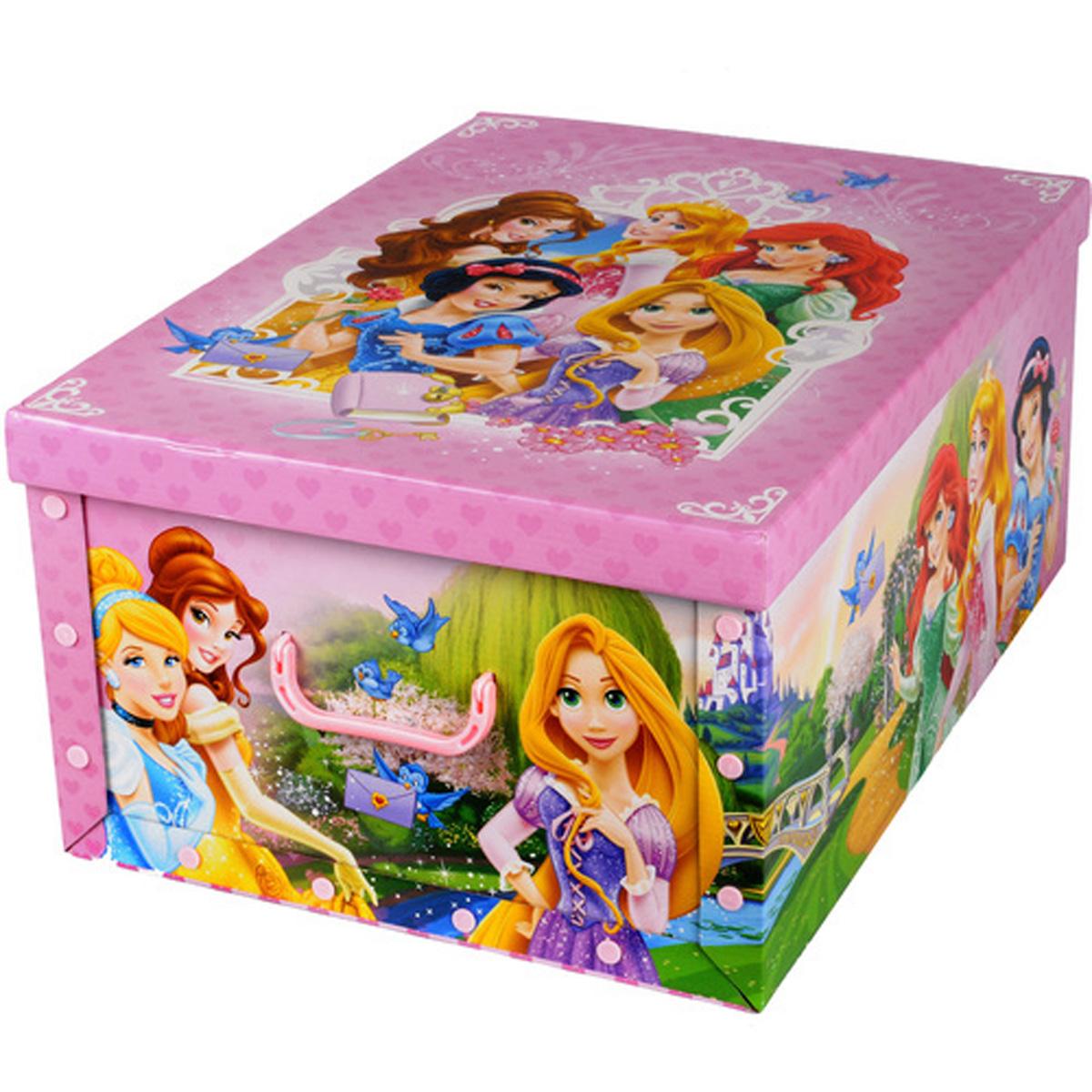 Коробка для хранения Disney Принцессы, 40 х 50 х 25 см64842Коробка для хранения Disney Принцессы, выполненная из высококачественного гофрированного картона, идеально подойдет для хранения игрушек, одежды, книг, канцелярских принадлежностей и других мелких предметов. Изделие легко собирается и не занимает много места. Коробка оснащена удобными ручками для транспортировки. Коробка Disney Принцессы поможет хранить все в одном месте, а также защитить вещи от пыли, грязи и влаги. Размер коробки (в собранном виде): 40 х 50 х 25 см.
