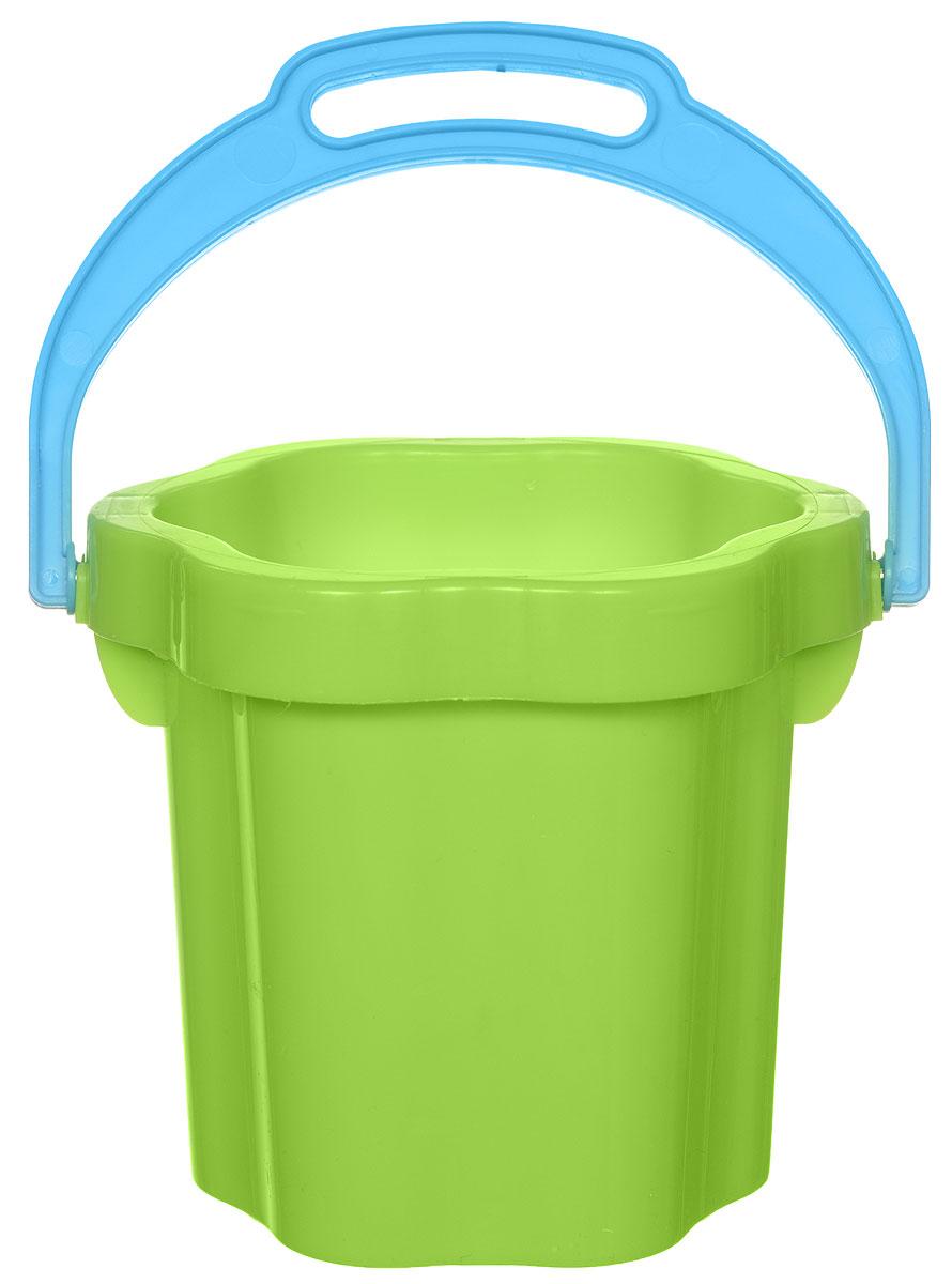 Stellar Ведро-цветок 0,3 л цвет зеленый1202_зеленыйДетское ведерко Stellar привлечет внимание вашего ребенка и станет незаменимым аксессуаром его игр в песочнице. Ведро выполнено из безопасного пластика в форме цветка. С помощью него ребенок сможет переносить песок и воду, лепить замки и многое другое. С таким ведерком игры на свежем воздухе принесут вашему малышу одно удовольствие! Объем ведра: 0,3 л.