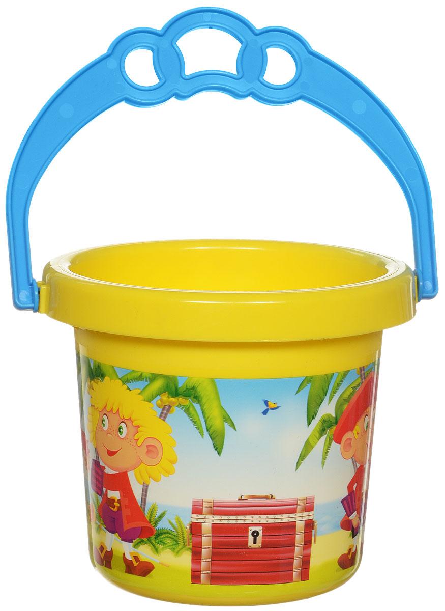 Stellar Ведро Палитра Пираты цвет желтый 0,8 л1284_желтыйДетское ведерко Stellar Палитра. Пираты привлечет внимание вашего ребенка и станет незаменимым аксессуаром его игр в песочнице. Ведро выполнено из безопасного пластика и декорировано ярким рисунком. С помощью ведерка ребенок сможет переносить песок и воду, лепить замки и многое другое. С таким ведерком игры на свежем воздухе принесут вашему малышу одно удовольствие! Объем ведра: 0,8 л.