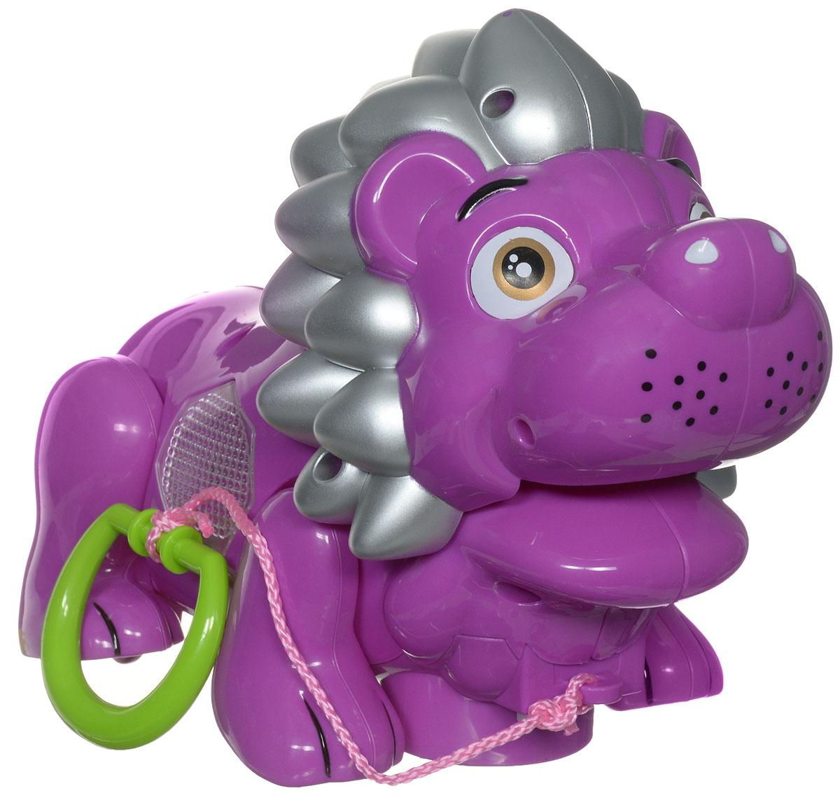 Zhorya Каталка Музыкальный львенок цвет фиолетовыйХ75386_фиолетЯркая игрушка-каталка Музыкальный львенок будет побуждать вашего ребенка к прогулкам и двигательной активности. Она подойдет для игры, как дома, так и на свежем воздухе. Игрушка со световыми и звуковыми эффектами выполнена из безопасного пластика в виде милого львенка. При движении львенок забавно двигает лапкой и головой. А ещё игрушка споет веселую песенку на русском языке и замигает яркой подсветкой. У каталки есть режим Произвольное движение. Ребенок сможет катать игрушку, потянув за текстильный шнурок. Игрушка-каталка Львенок развивает у ребенка пространственное мышление, цветовое восприятие, ловкость и координацию движений, тактильные ощущения, память, внимание и слух. Для работы игрушки необходимы 3 батарейки напряжением 1,5V типа АА (не входят в комплект).