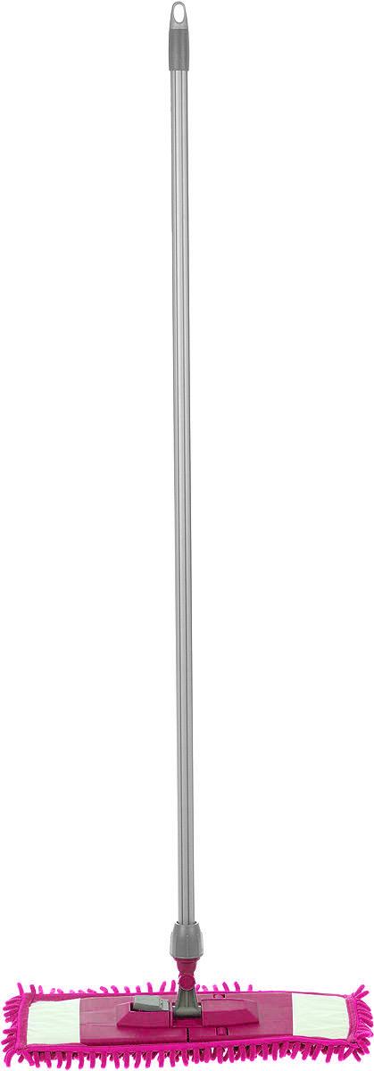 Швабра Мир чистоты Синель, с прорезиненной ручкой, цвет: фуксия, длина 118 смEK027Швабра Мир чистоты Синель с насадкой из микрофибры широко используется для сухой и влажной уборки любых напольных поверхностей. Благодаря уникальным свойствам микрофибры сухая насадка легко удаляет пыль и в три раза лучше впитывает влагу, чем обычный хлопок. Подошва швабры складывается, что позволяет легко снять насадку. Прорезиненная алюминиевая ручка удобно и надежно будет лежать в руке. Швабра Мир чистоты Синель со складывающейся подошвой - лучший помощник в доме! Длина швабры: 118 см. Размер насадки: 42 х 13 х 2,5 см.