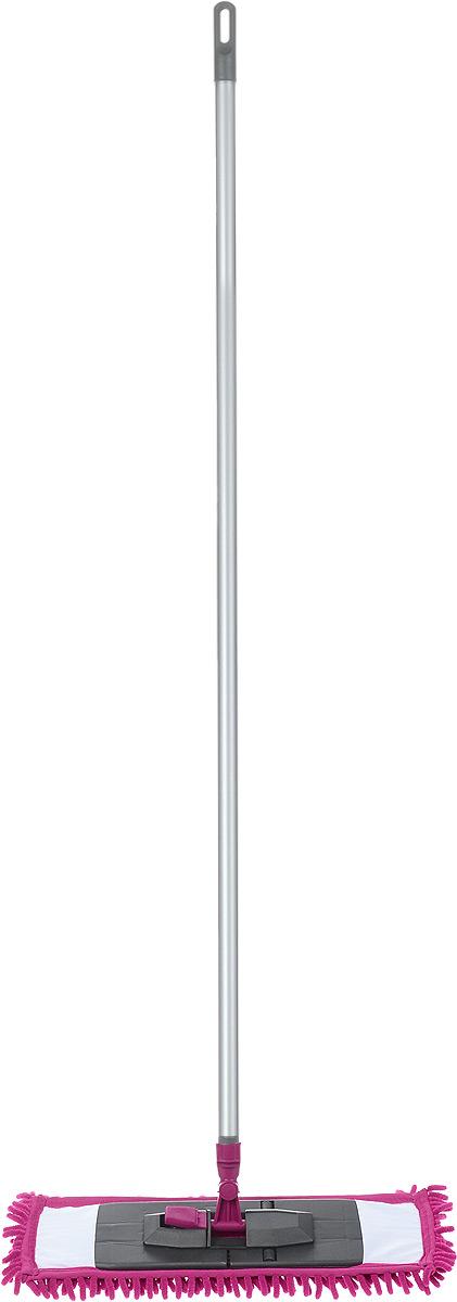 Швабра Мир чистоты Синель, цвет: фуксия, длина 120 смST008-EZ005-KS006Швабра Мир чистоты Синель с насадкой из микрофибры широко используется для сухой и влажной уборки любых напольных поверхностей. Благодаря уникальным свойствам микрофибры сухая насадка легко удаляет пыль и в три раза лучше впитывает влагу, чем обычный хлопок. Подошва швабры складывается, что позволяет легко снять насадку. Алюминиевая ручка удобно и надежно будет лежать в руке. Швабра Мир чистоты Синель со складывающейся подошвой - лучший помощник в доме! Длина швабры: 120 см. Размер насадки: 45 х 13 х 1,5 см.